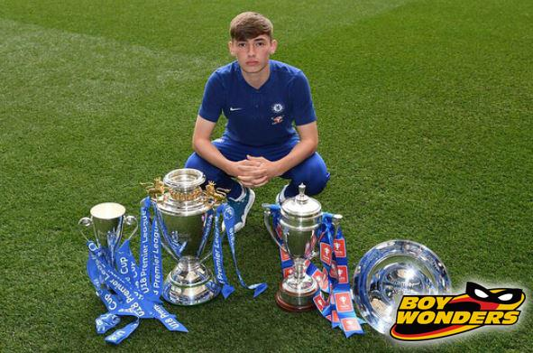 Billy Gilmour won four trophies in his first season at Chelsea