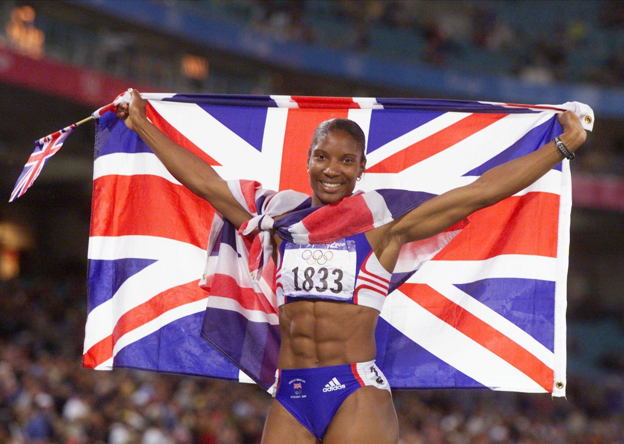 Denise Lewis won heptathlon gold at the 2000 Olympics in Sydney