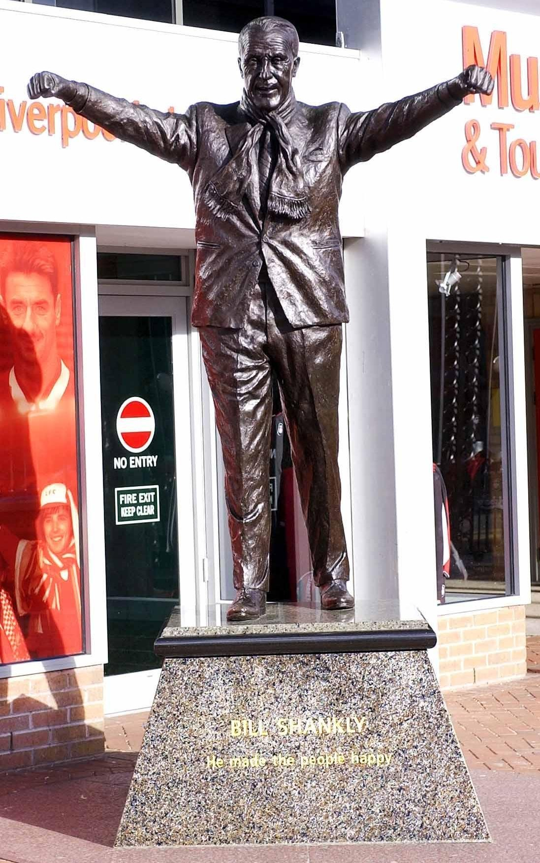 Shankly's statue greets visitors to Anfield