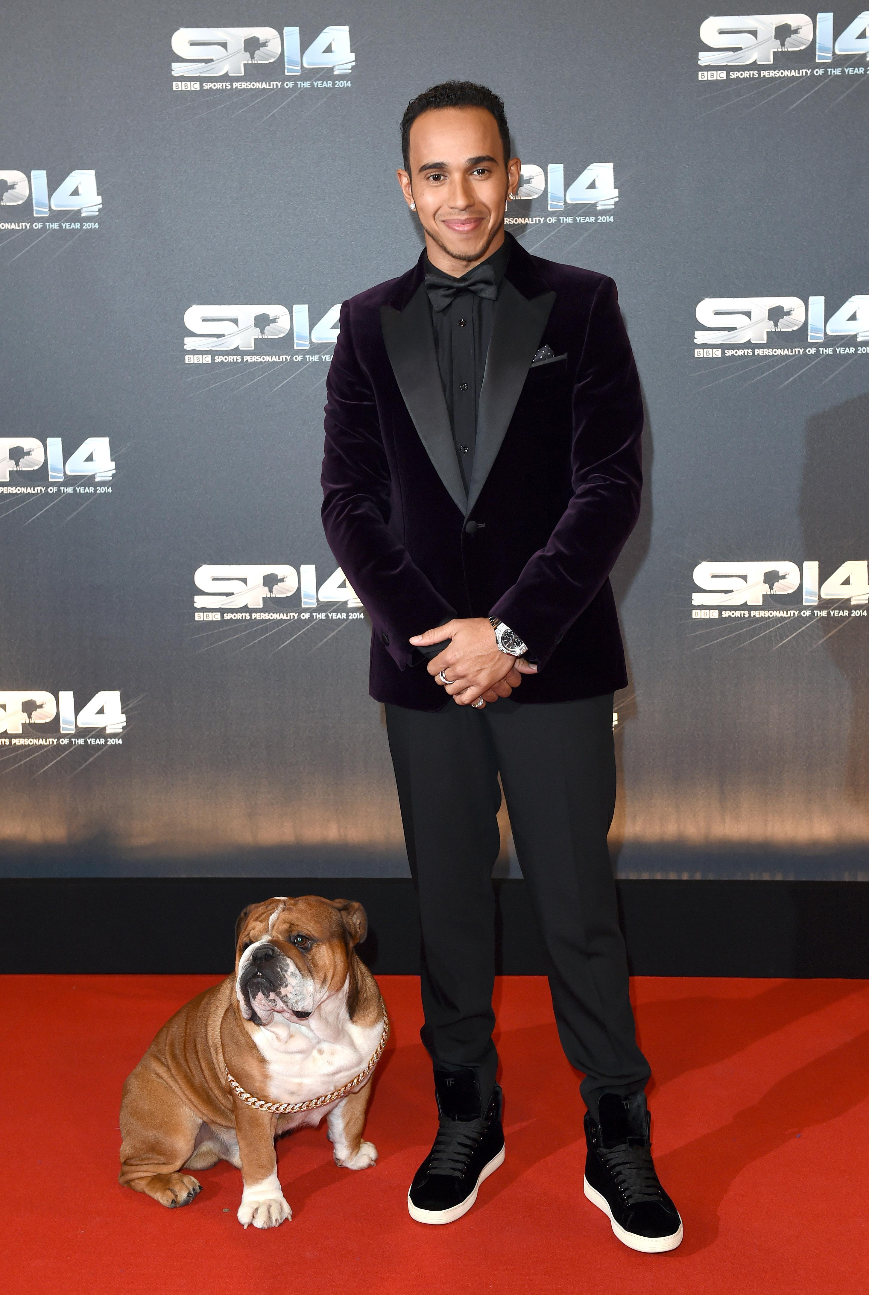 Lewis Hamilton has revealed how his pet pooch is raking it in... as a model