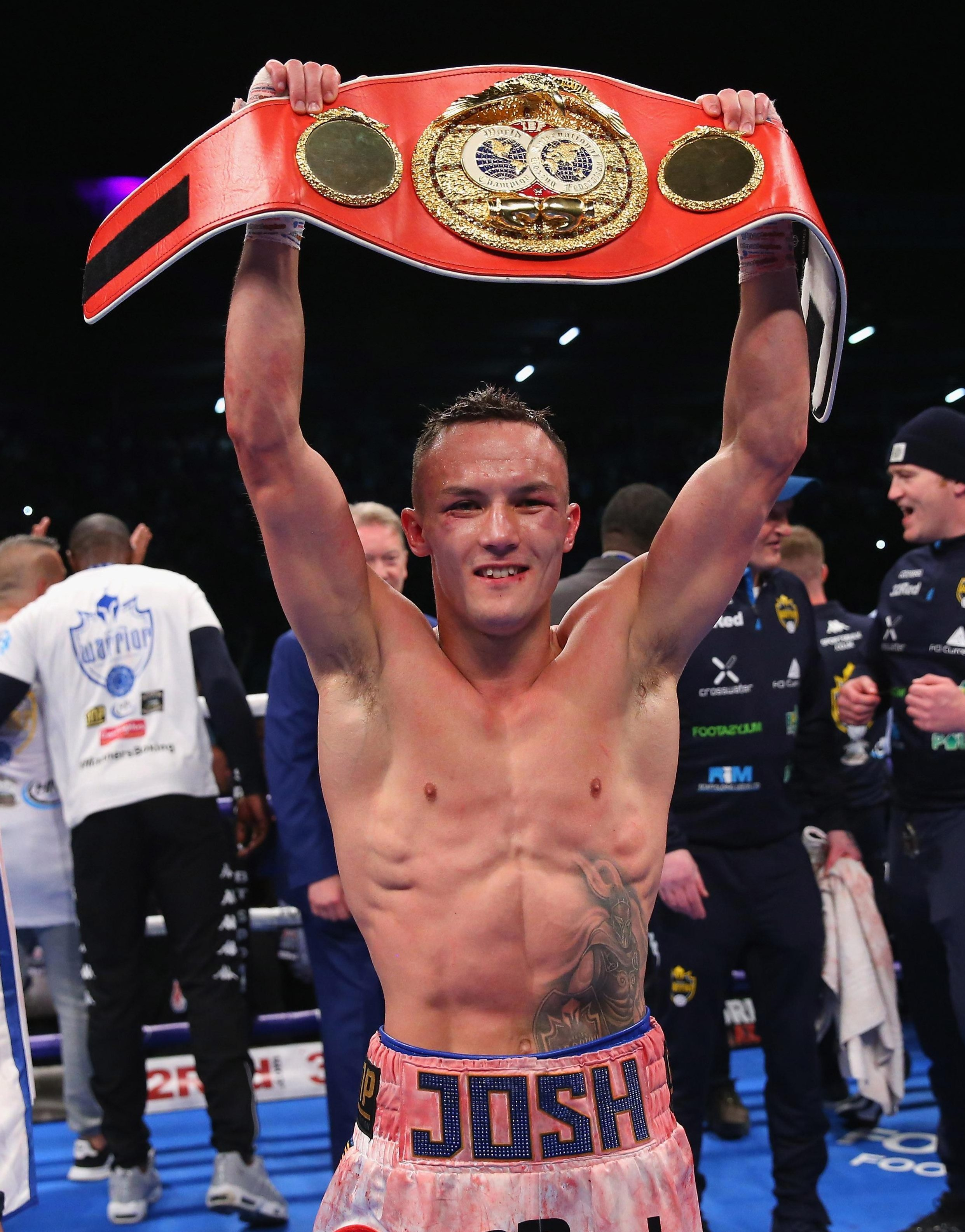 Josh Warrington is the man who holds the IBF featherweight world title - a belt Carl Frampton has his eyes on
