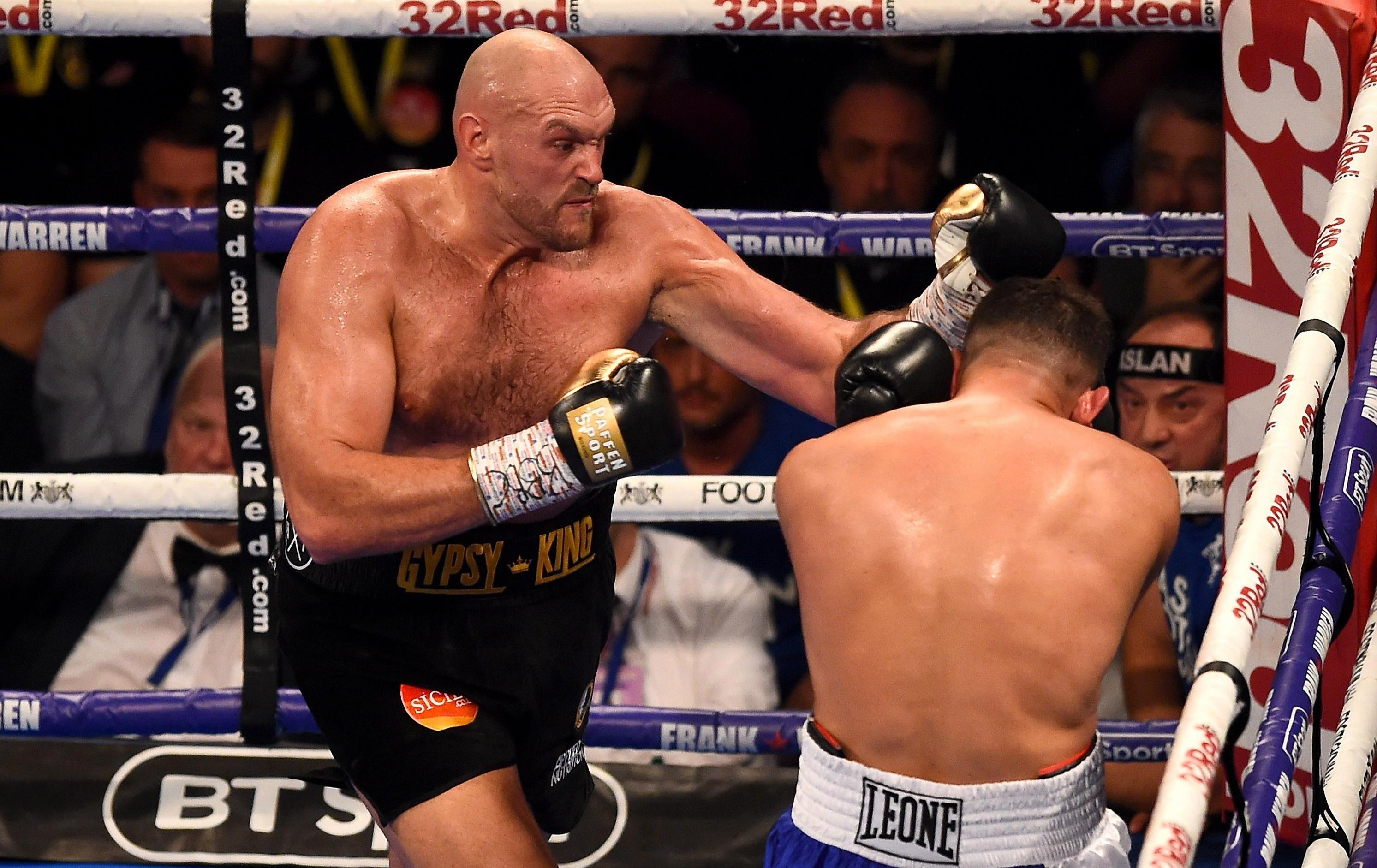 Fury hopes to be challenging Anthony Joshua soon