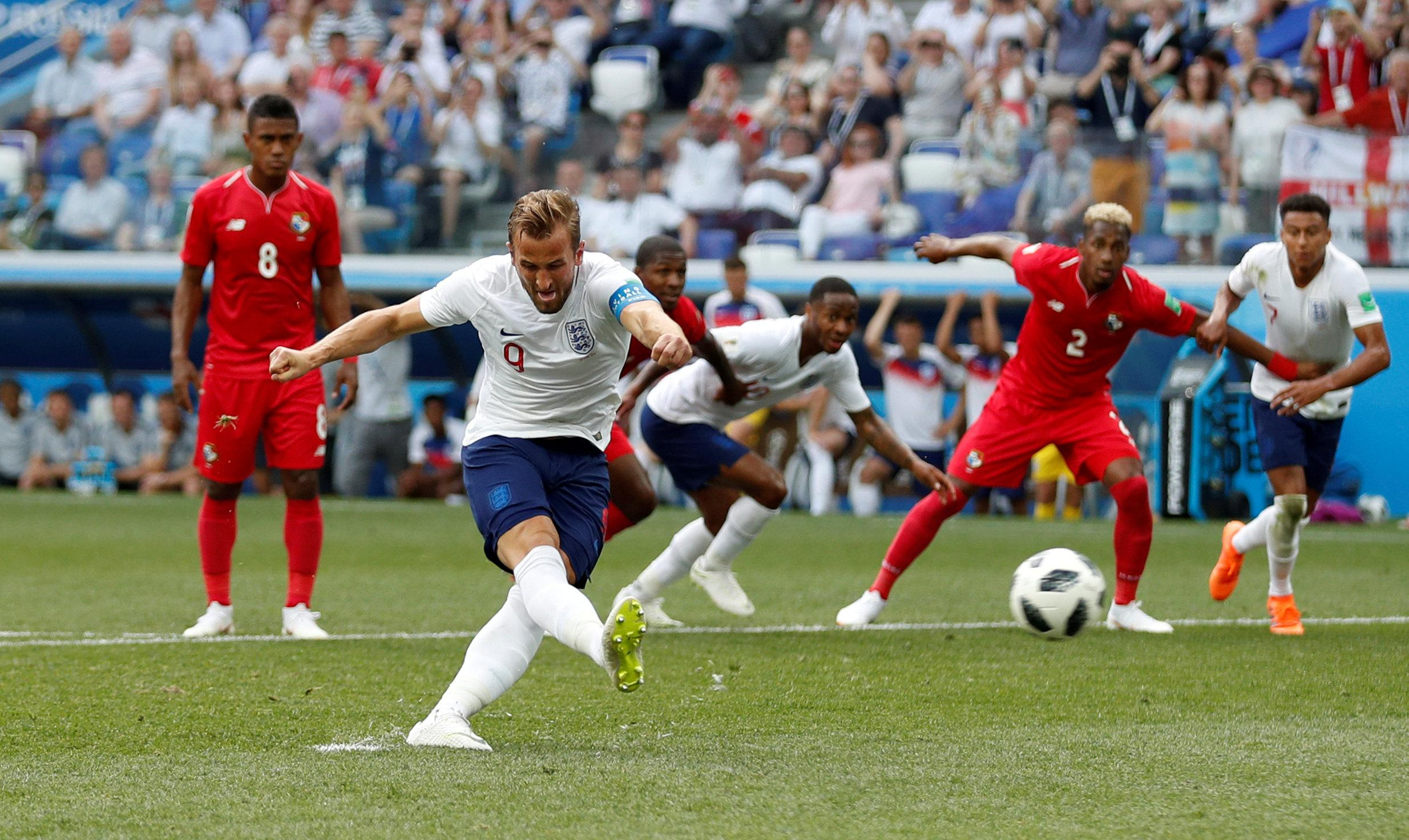 Only Gary Lineker has scored more goals than Kane for England at the World Cup