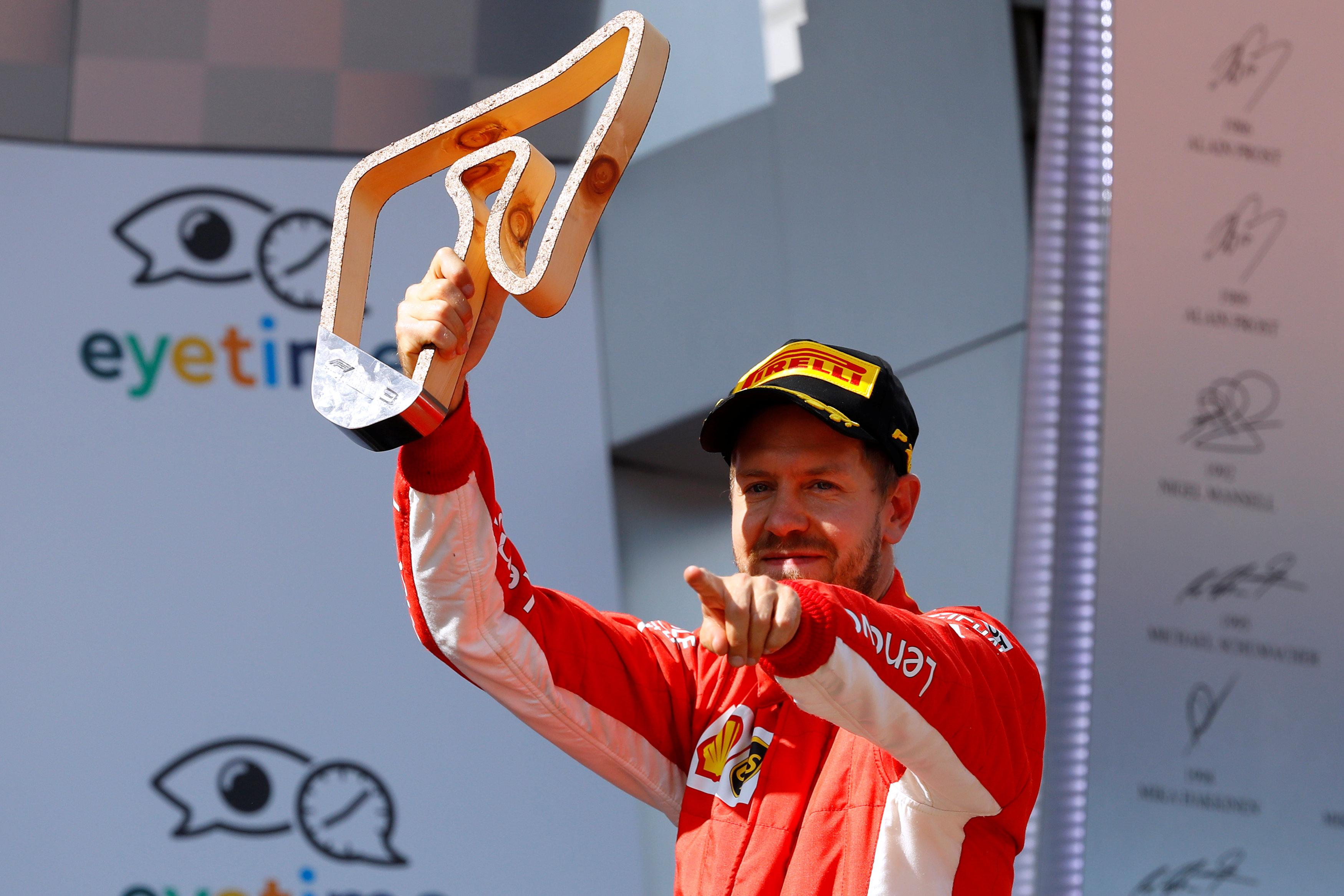 Vettel took third place and the championship lead back by a single point from Hamilton