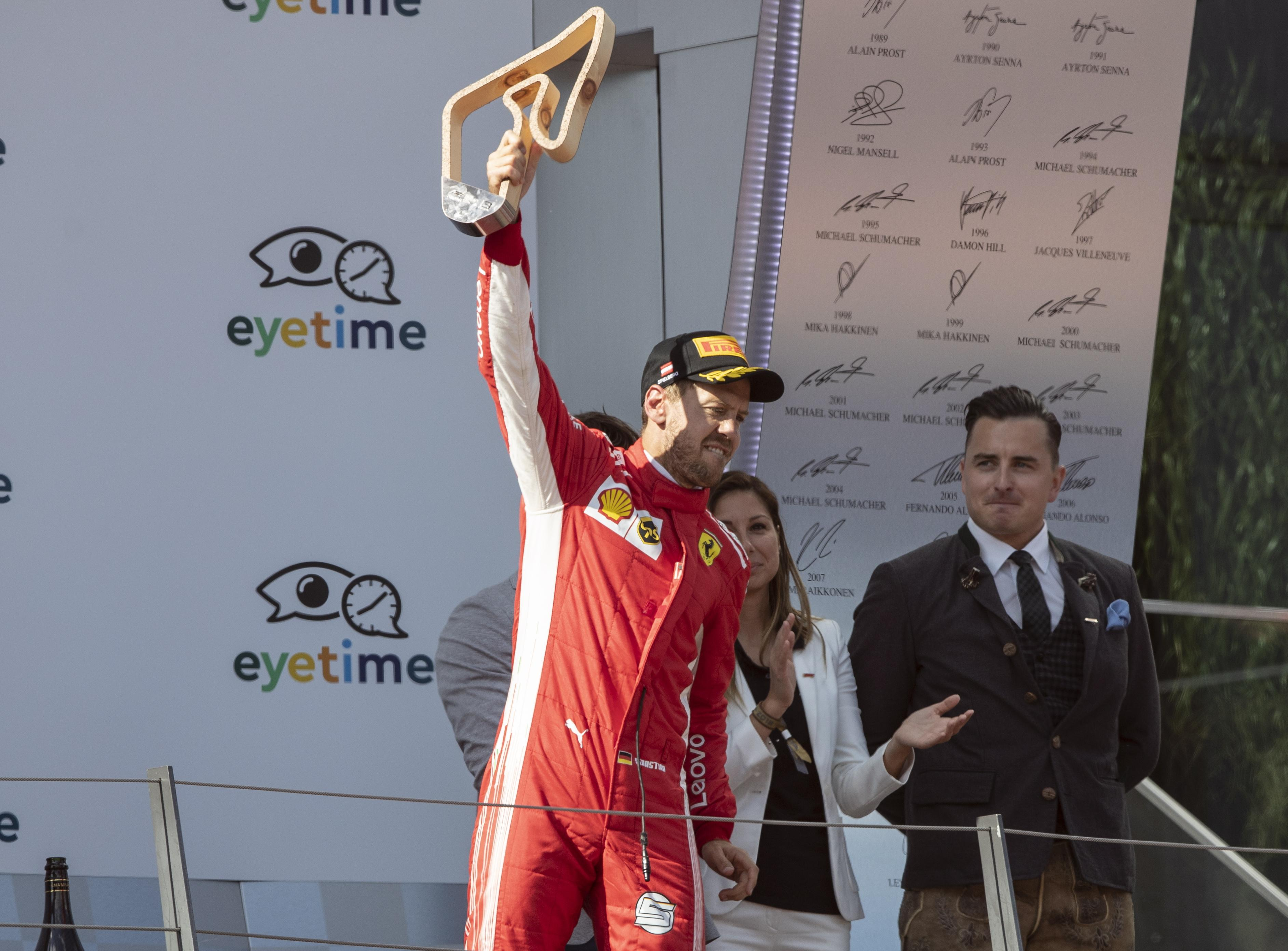 Sebastian Vettel's third-place finish in Austria saw him move into the lead in the Drivers Standings