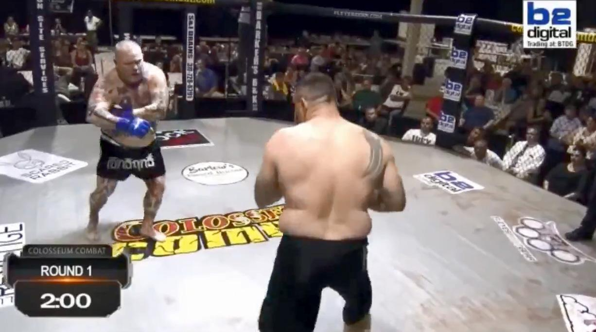 MMA fighter Johnathan Ivey appeared to fake a heart attack against Travis Fulton