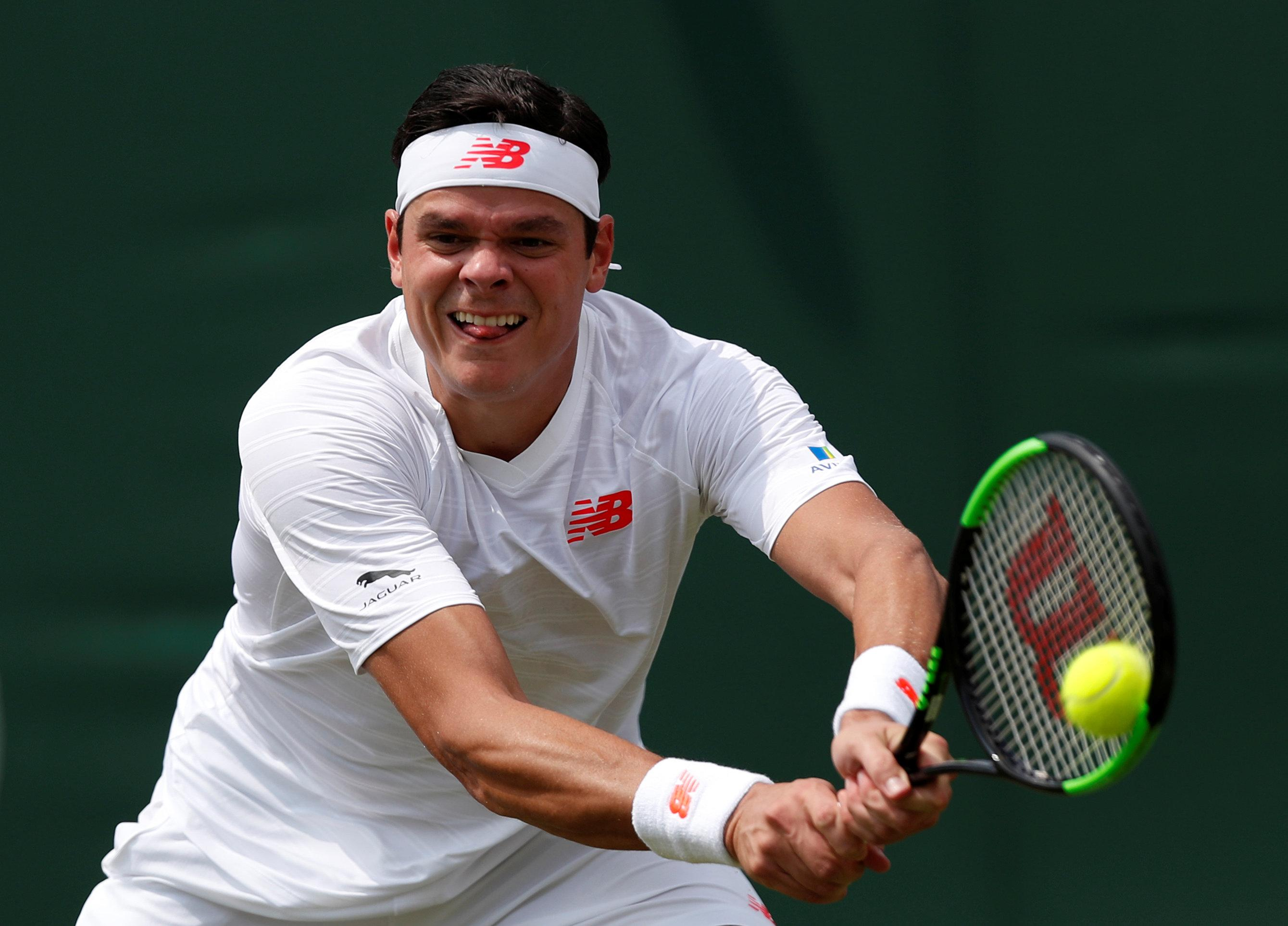Milos Raonic is expected to power his way into the quarter-finals