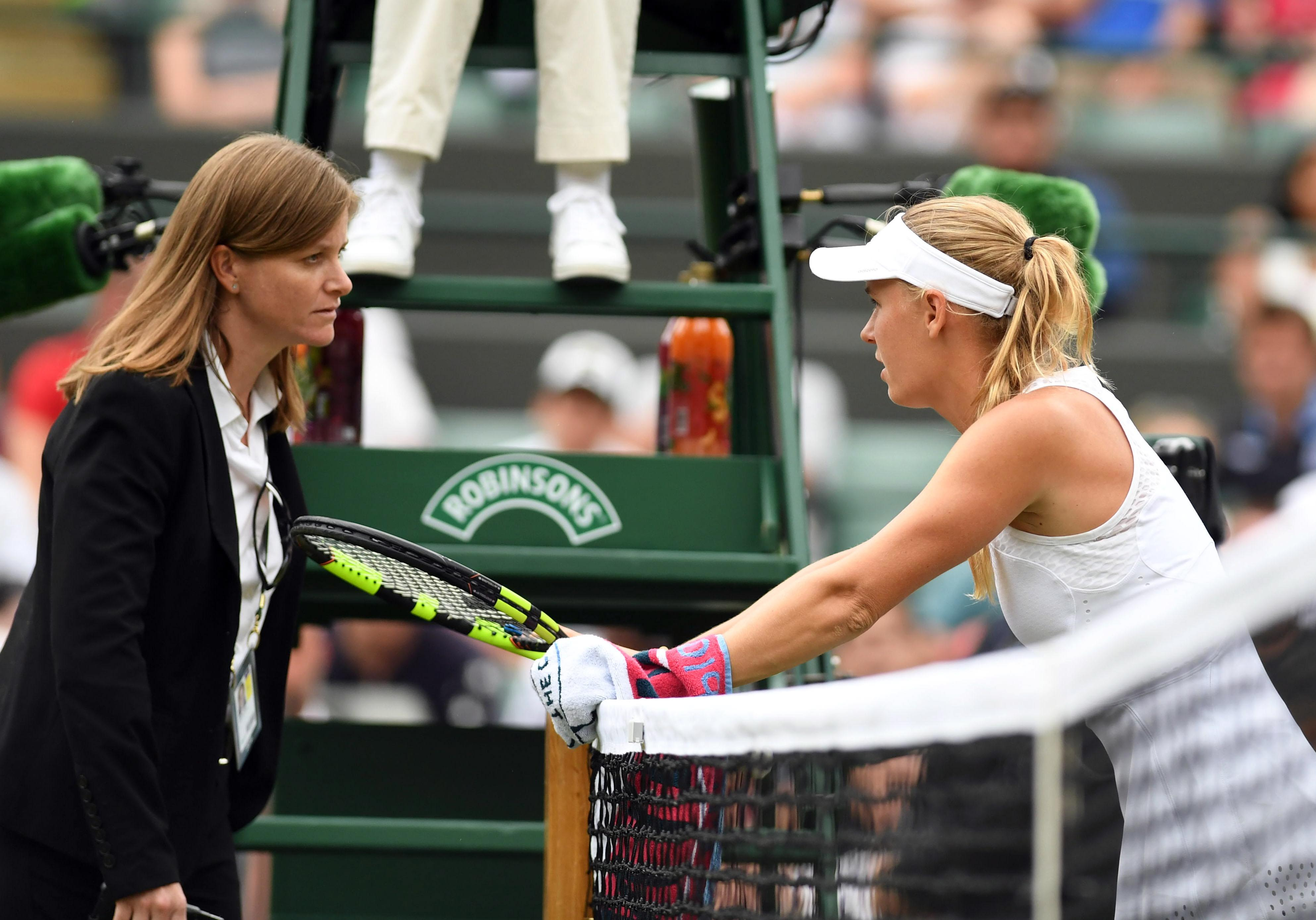 Wozniacki complained about a flying ant invasion during her defeat to Makarova at Wimbledon