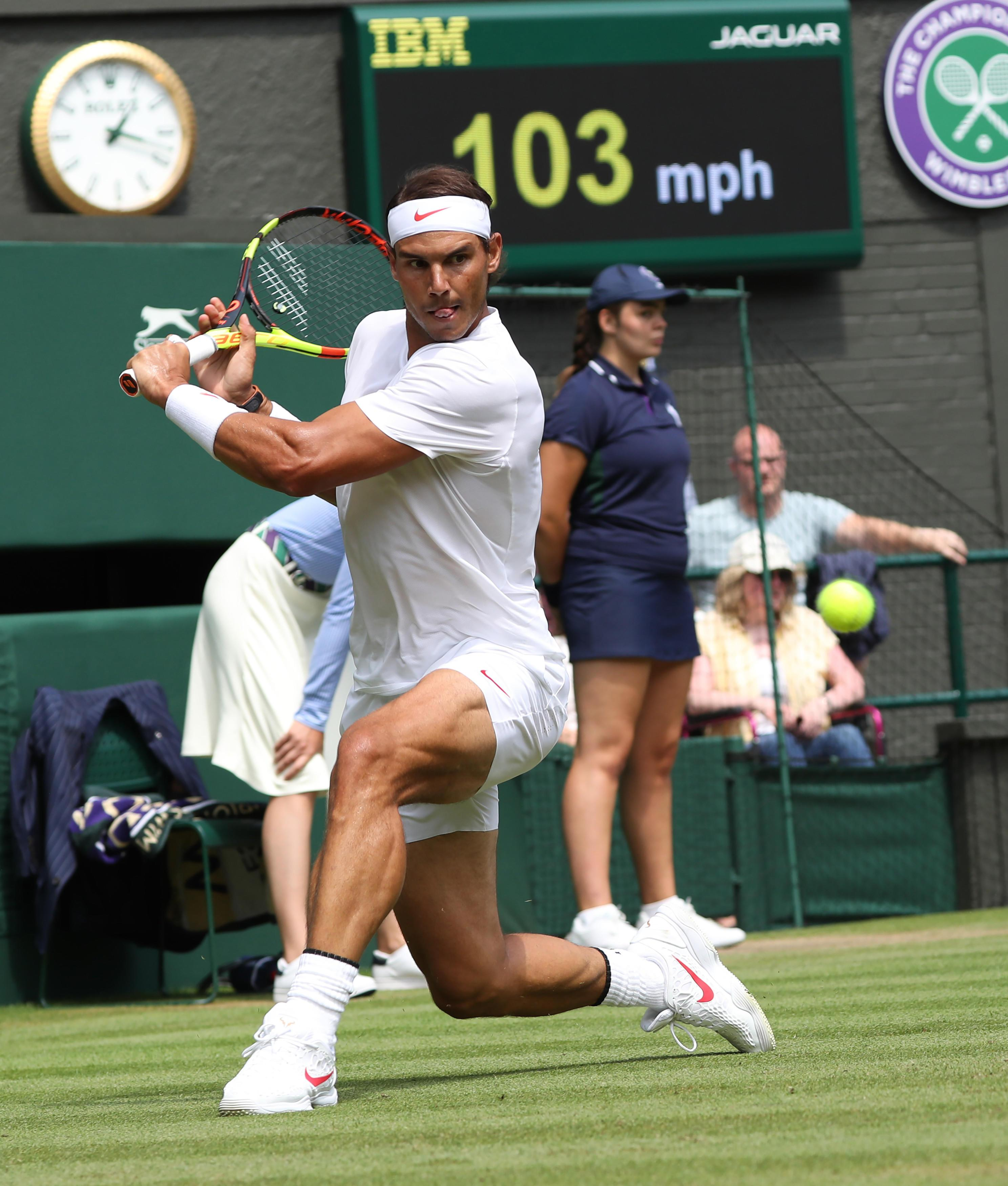 The world number one was in complete control after a nervous start as he continued his challenge for Wimbledon