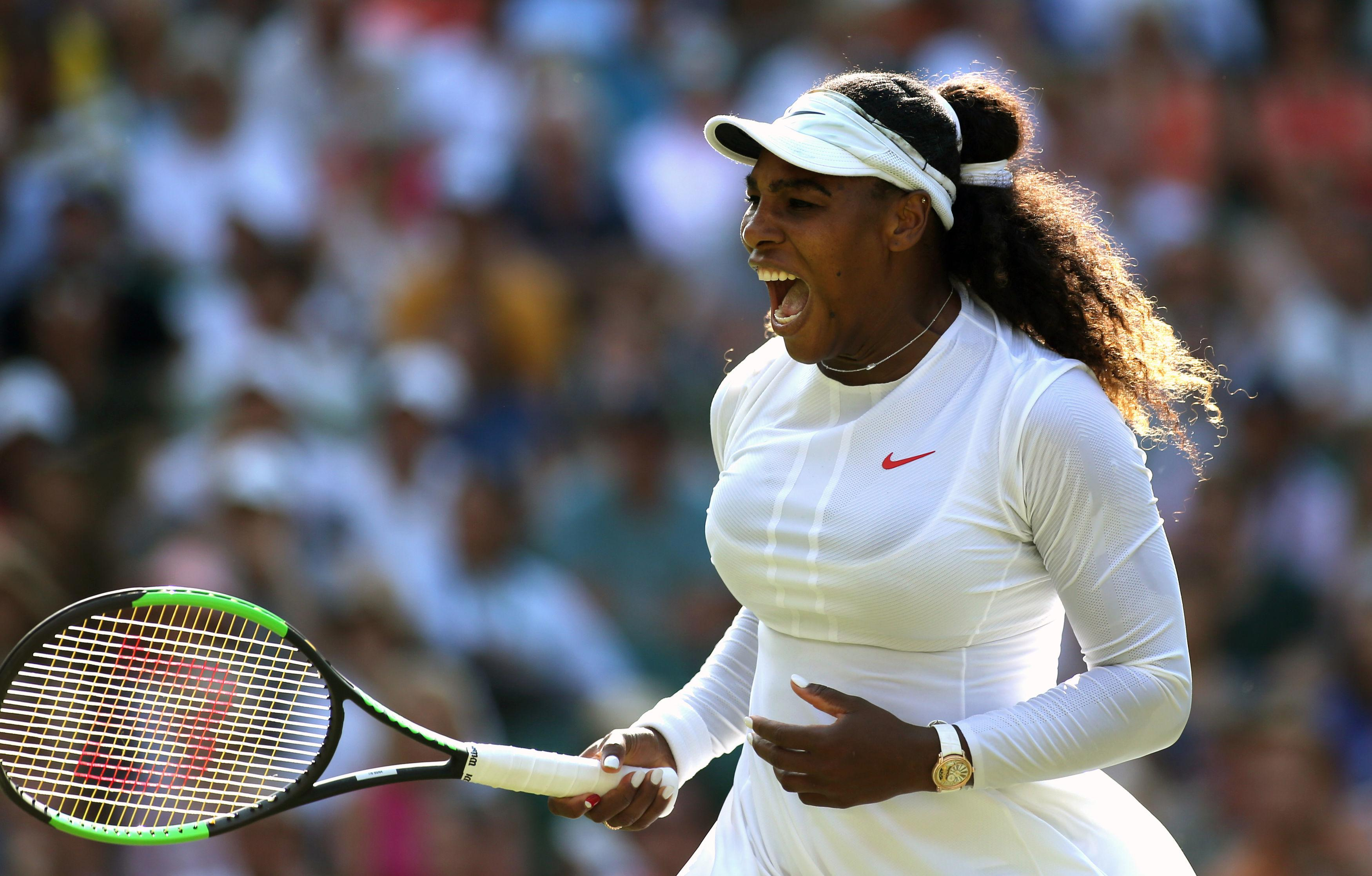 Serena Williams is finding her form and fitness with every game at Wimbledon