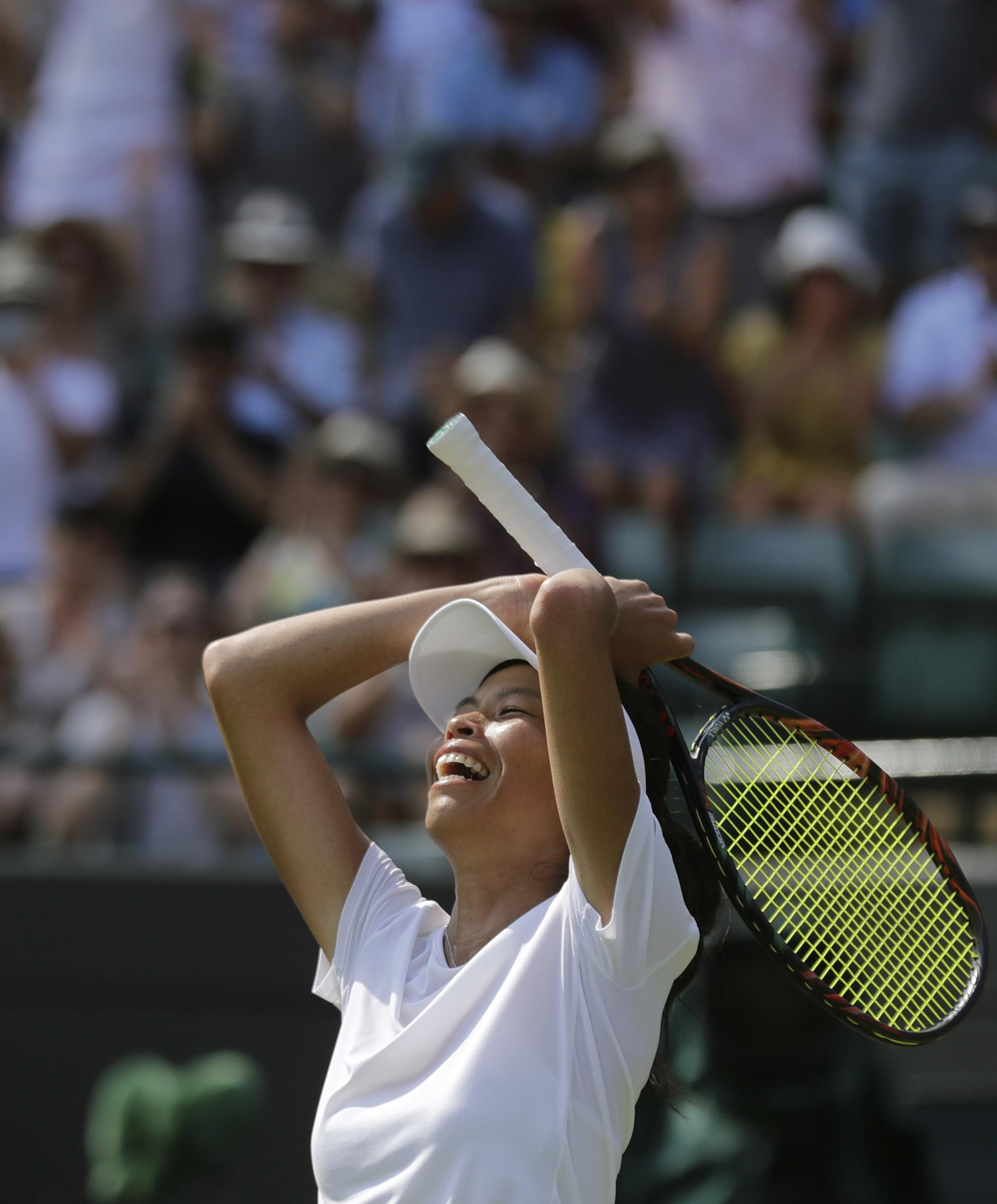Hsieh Su-Wei cannot believe she has dumped the number one seed out of Wimbledon