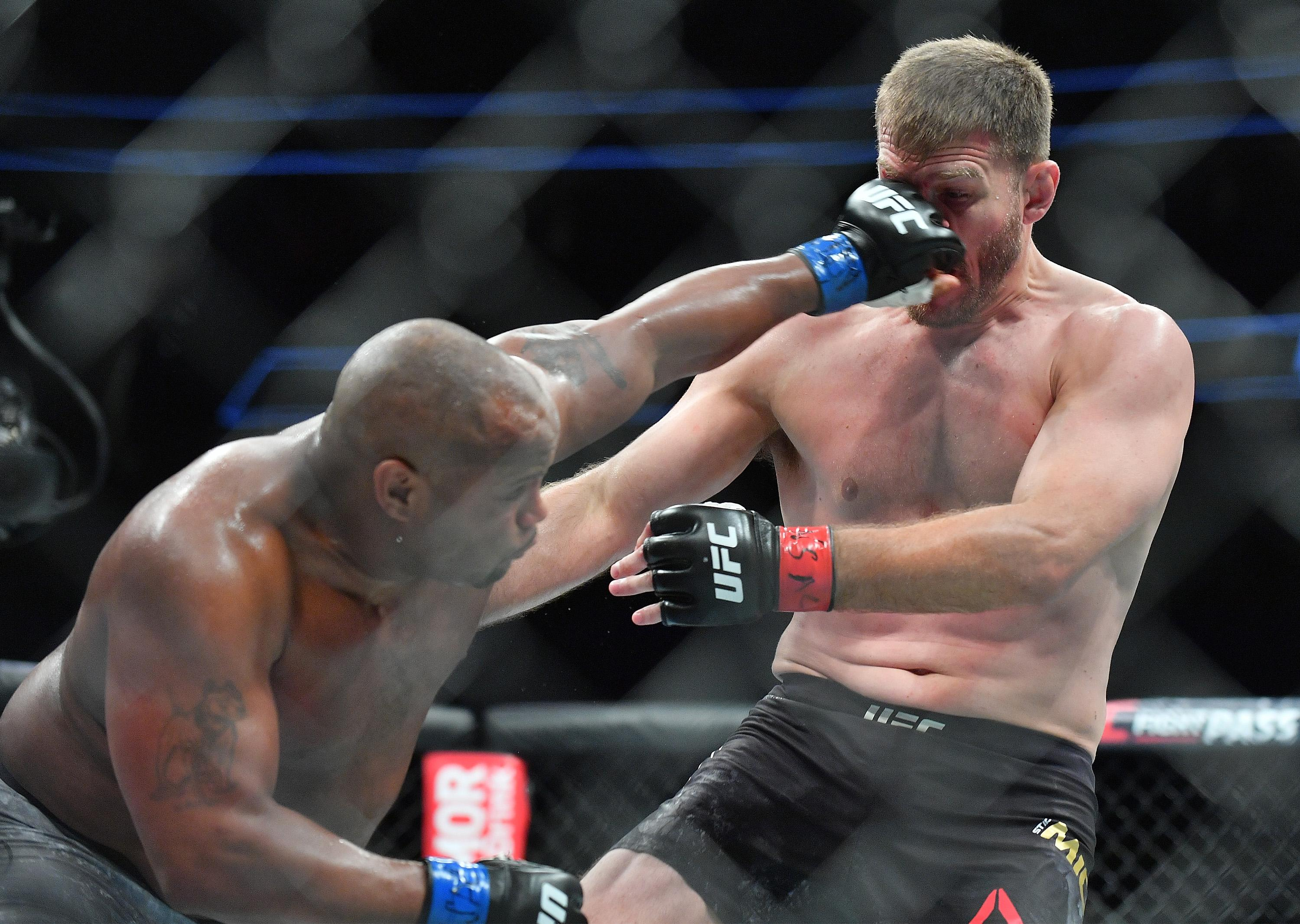 Lesnar was ringside to see Cormier knock out Stipe Miocic on Saturday