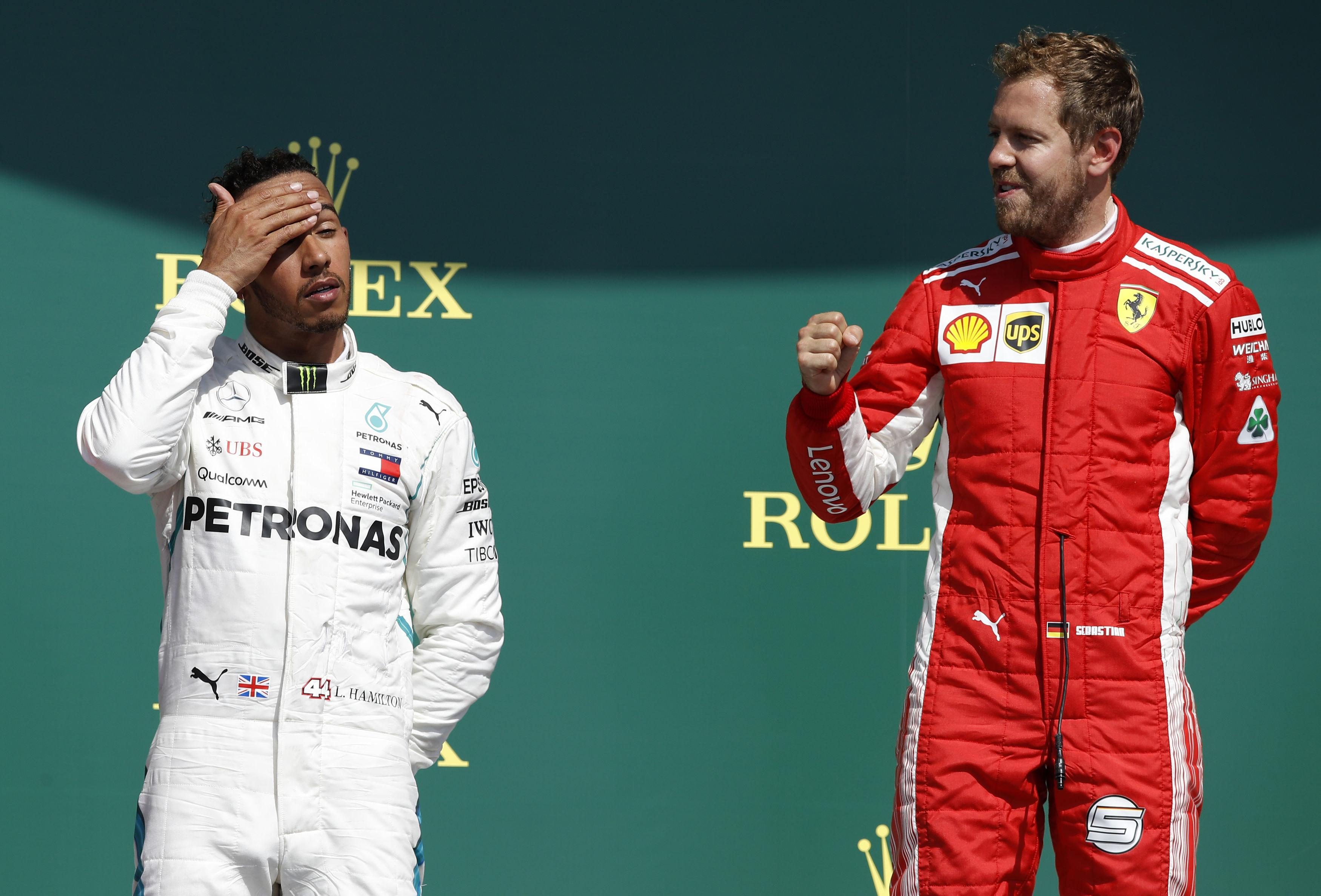 Briton Hamilton finished second behind Ferrari's Sebastian Vettel