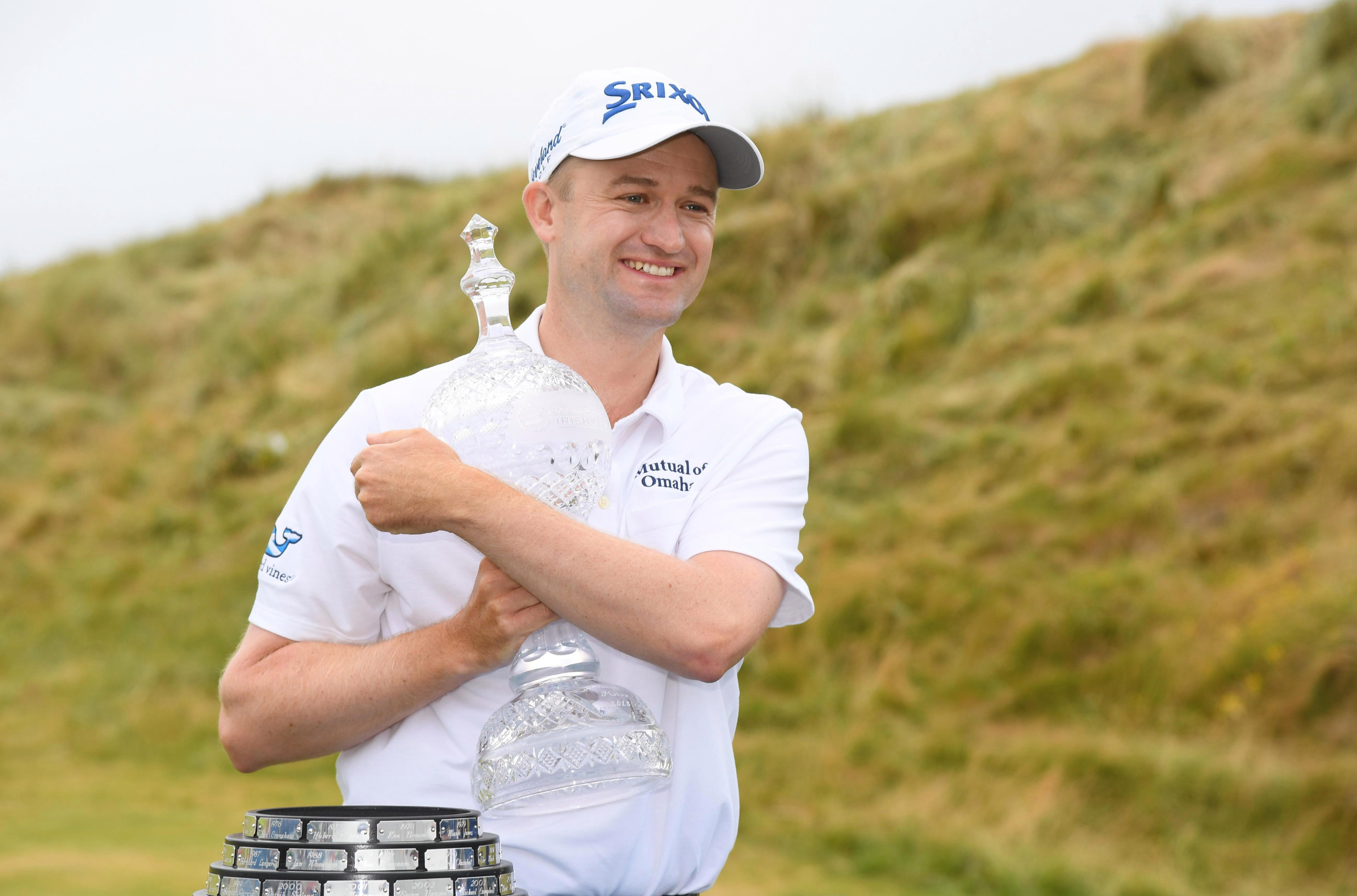 Russell Knox won the Irish Open after two mammoth putts