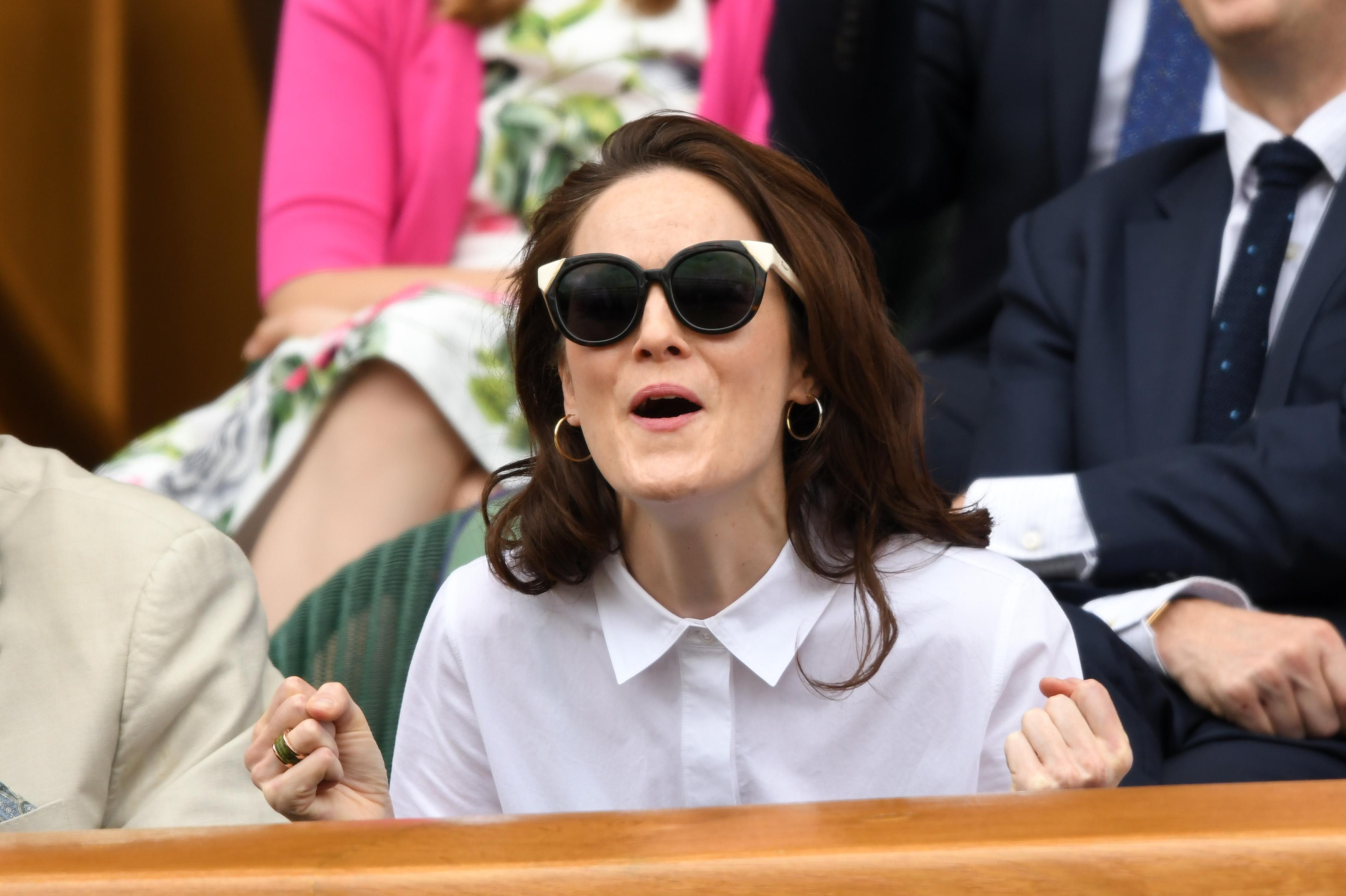 Downton Abbey star Michelle Dockery also enjoyed the game from the Royal Box