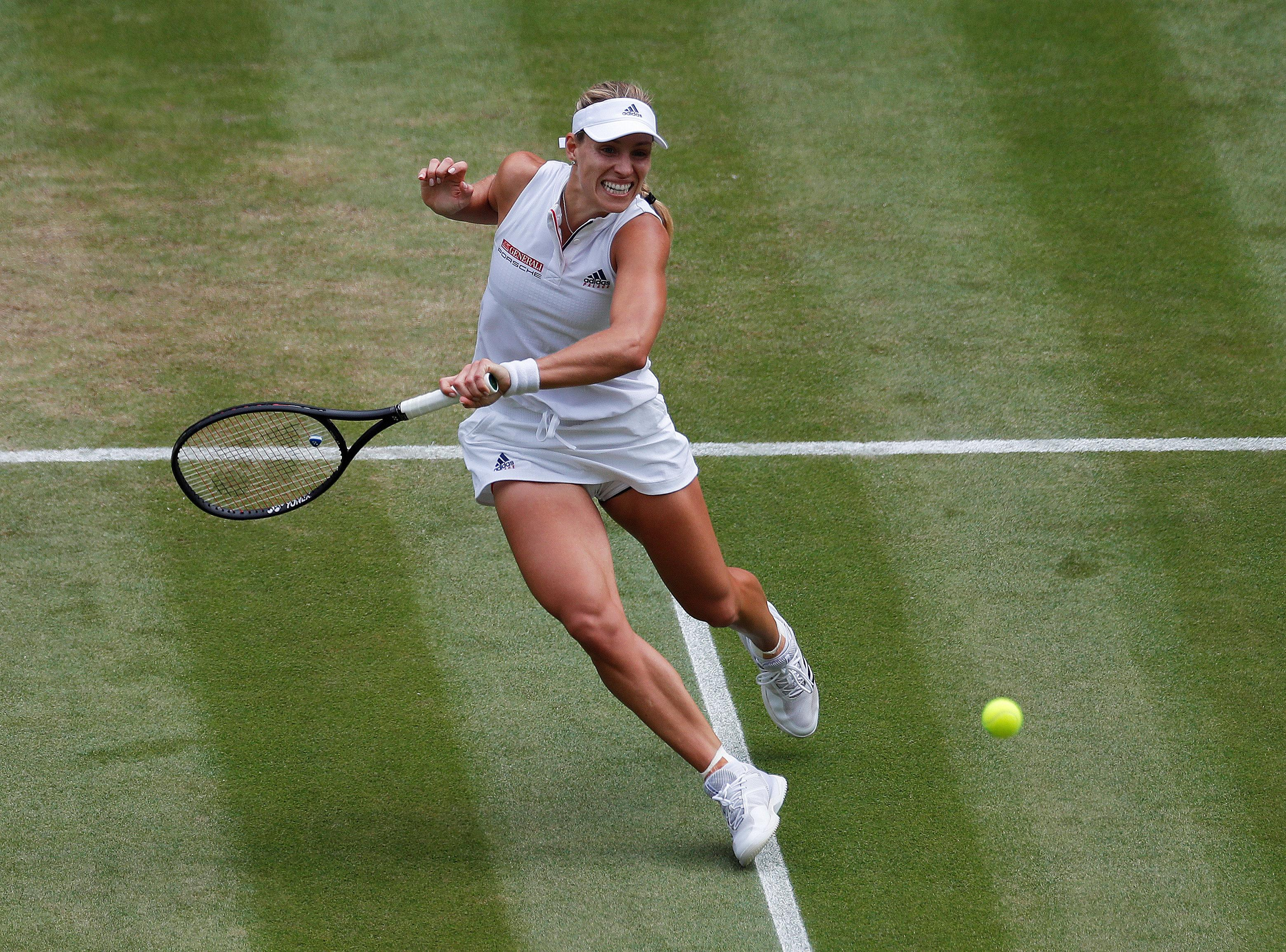 Former world number one Angelique Kerber was back on top form as she saw of Kasatkina on Centre Courtin straight sets