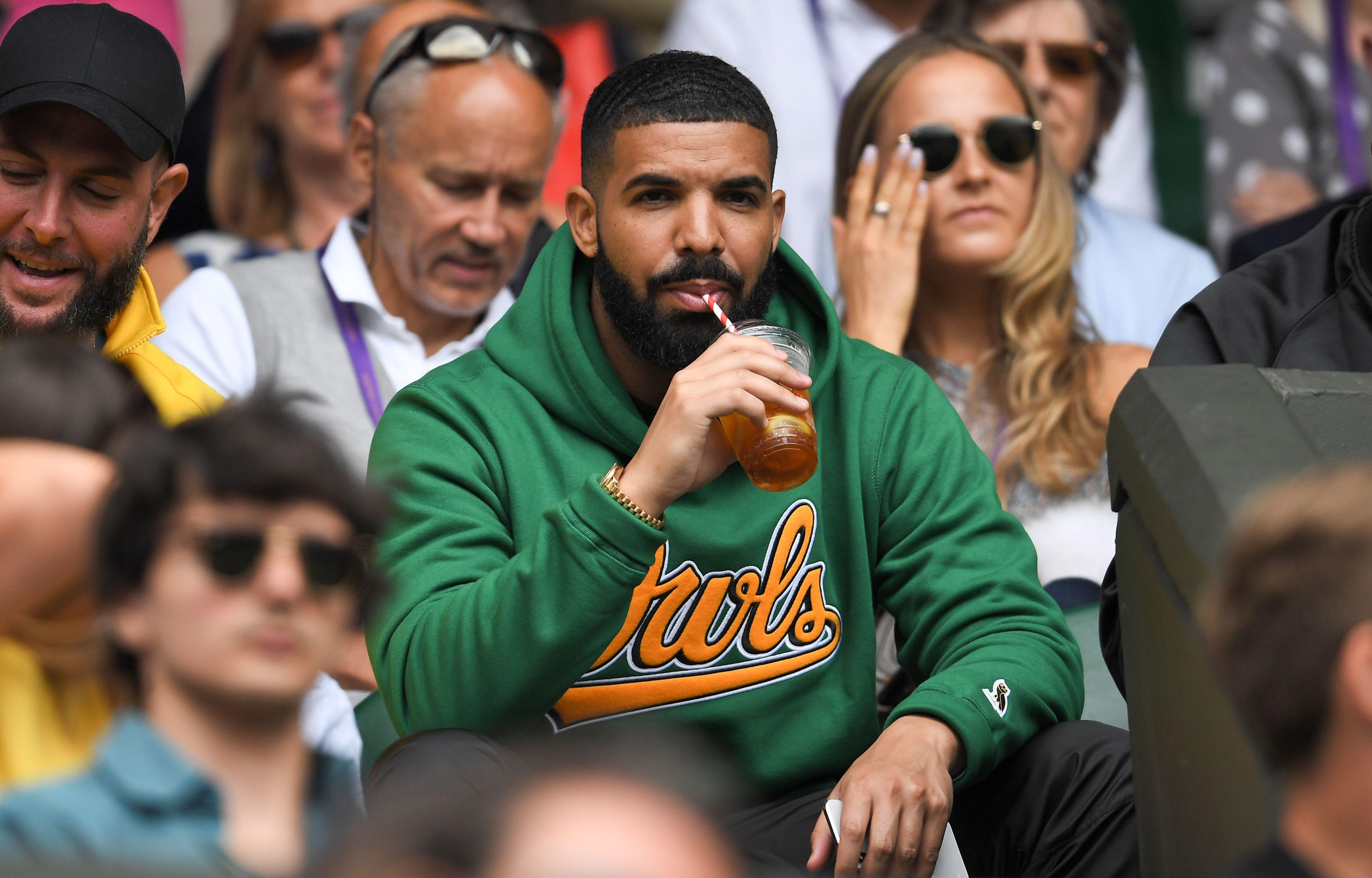 US rapper Drake was spotted sipping on Pimms
