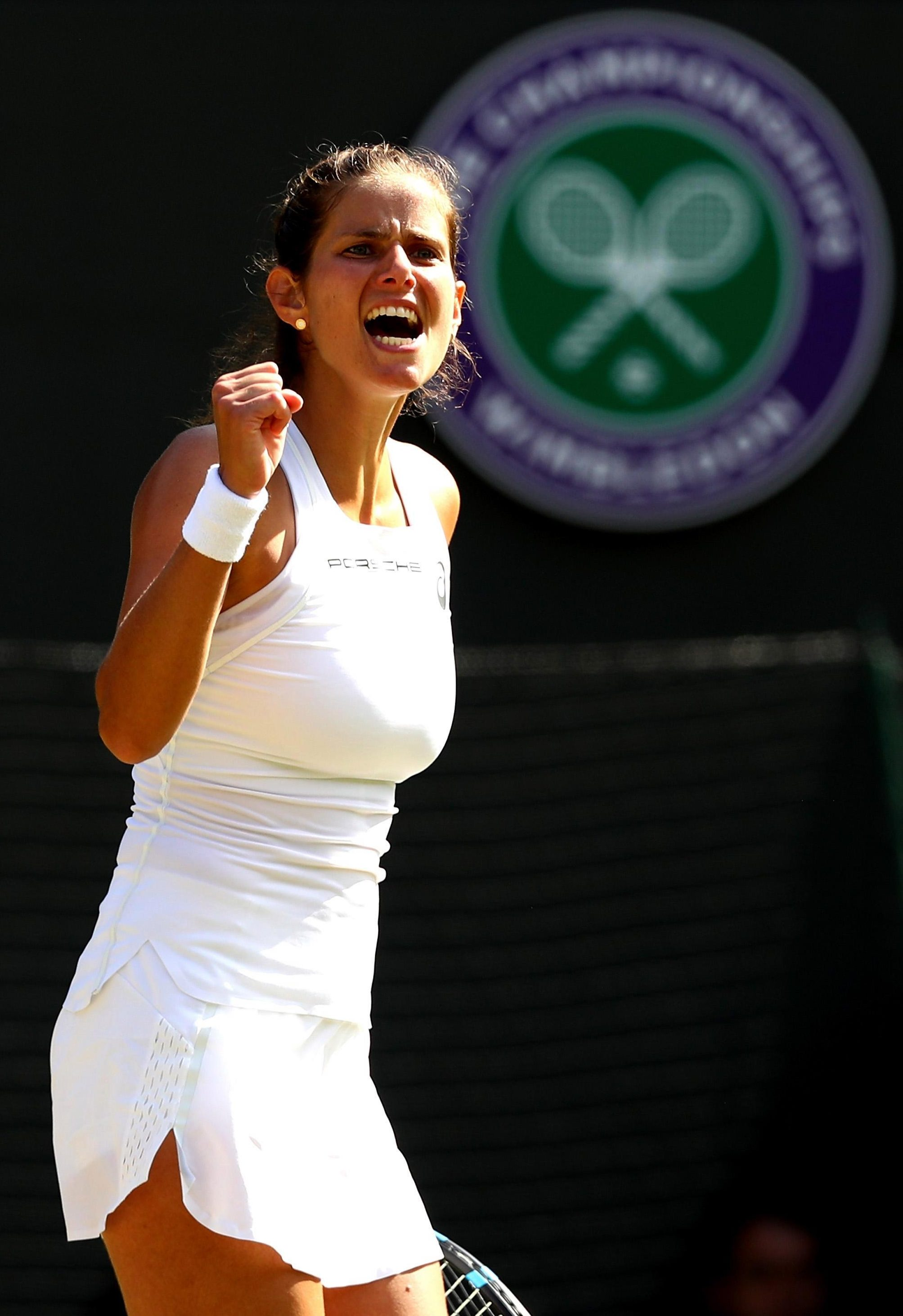 Julia Goerges saw off the challenge of Kiki Bertens to reach the semi-final