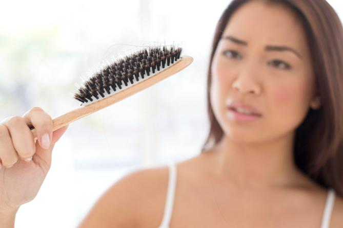 Every loses a few strands of hair a day.. extreme stress can trigger substantial loss