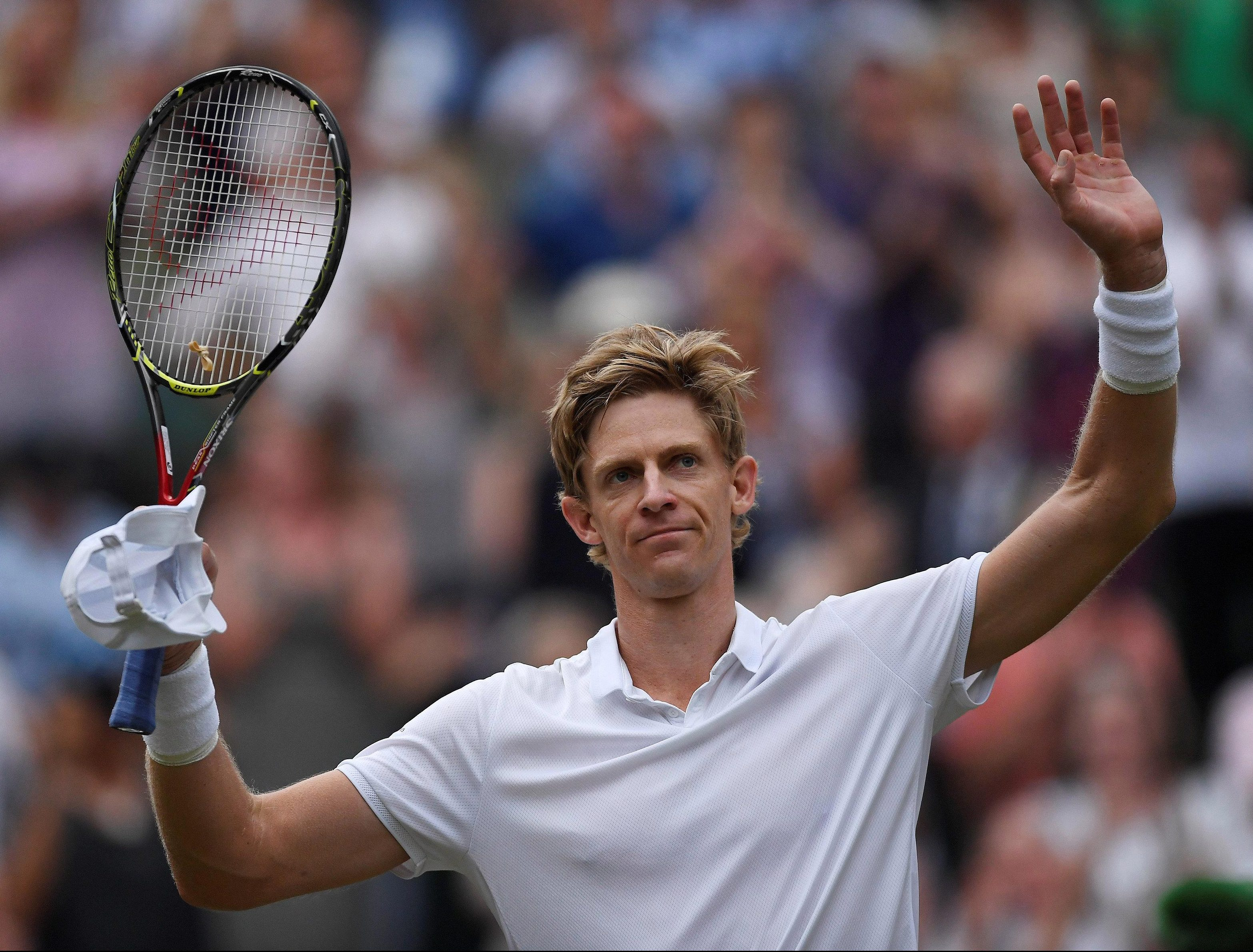 Kevin Anderson shows his relief as much as joy after his victory over John Isner