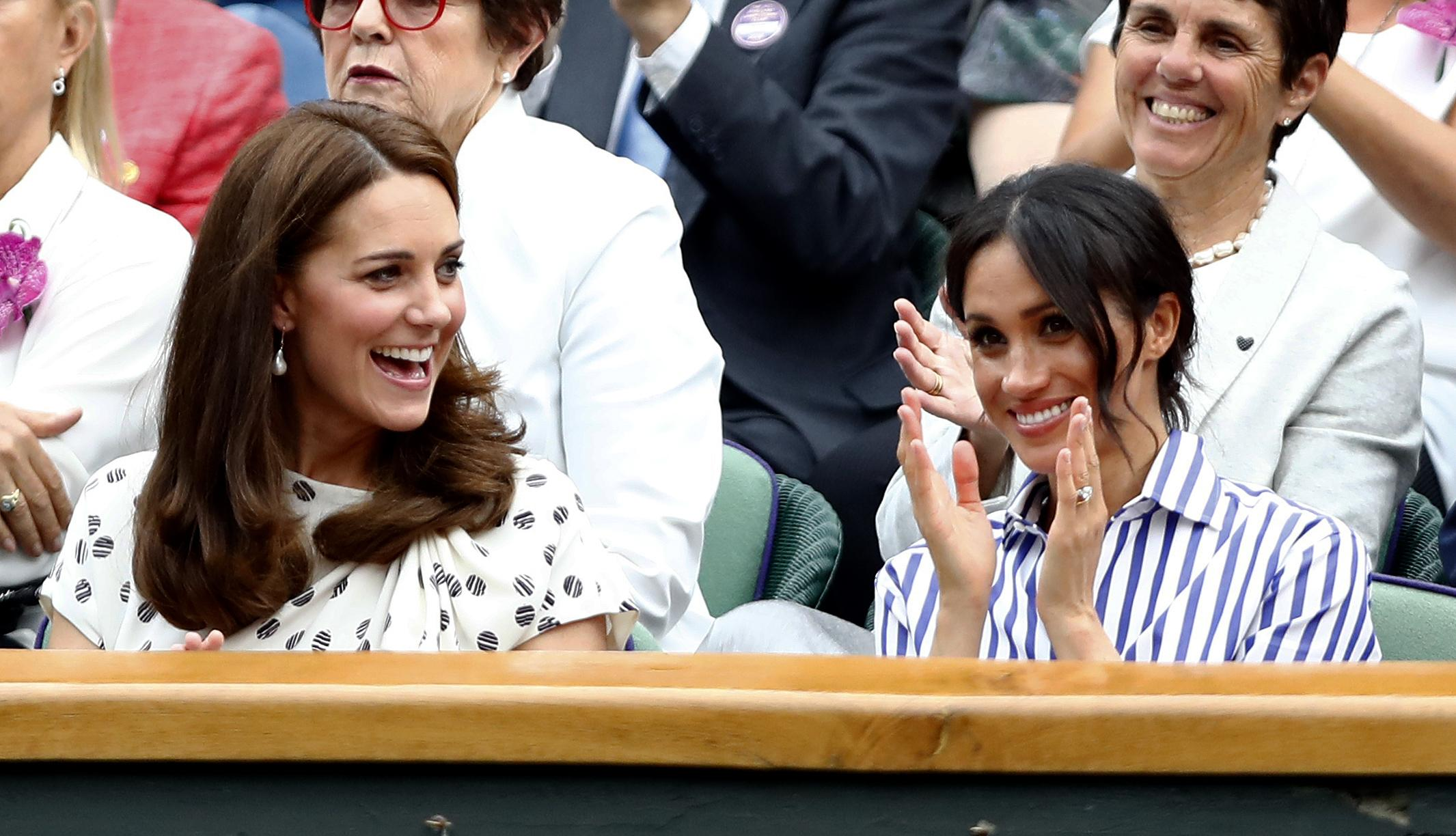 The Duchess of Cambridge and the Duchess of Sussex watched the epic between Novak Djokovic and Rafael Nadal