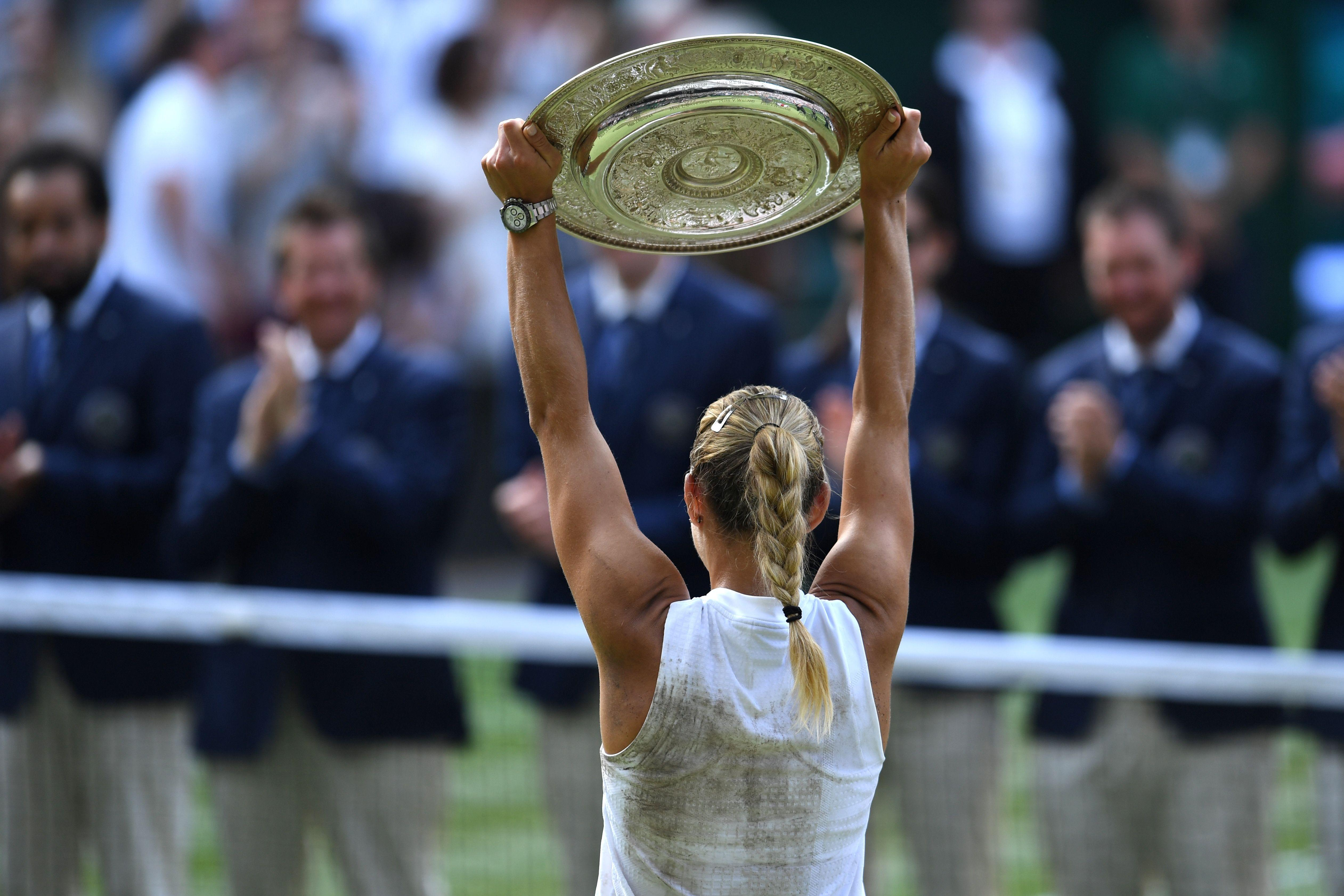 Angelique Kerber denied Serena Williams a record eighth Wimbledon crown