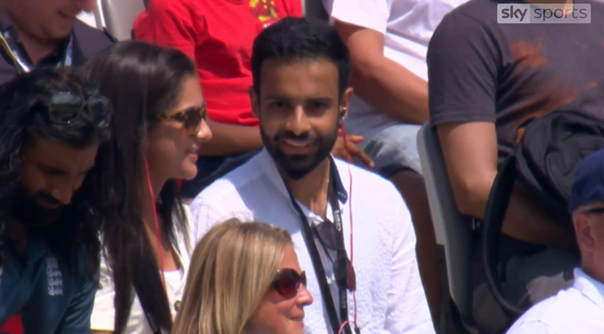 David Lloyd began chatting to Charan Gill and Pavan Bains while they listened to the cricket commentary