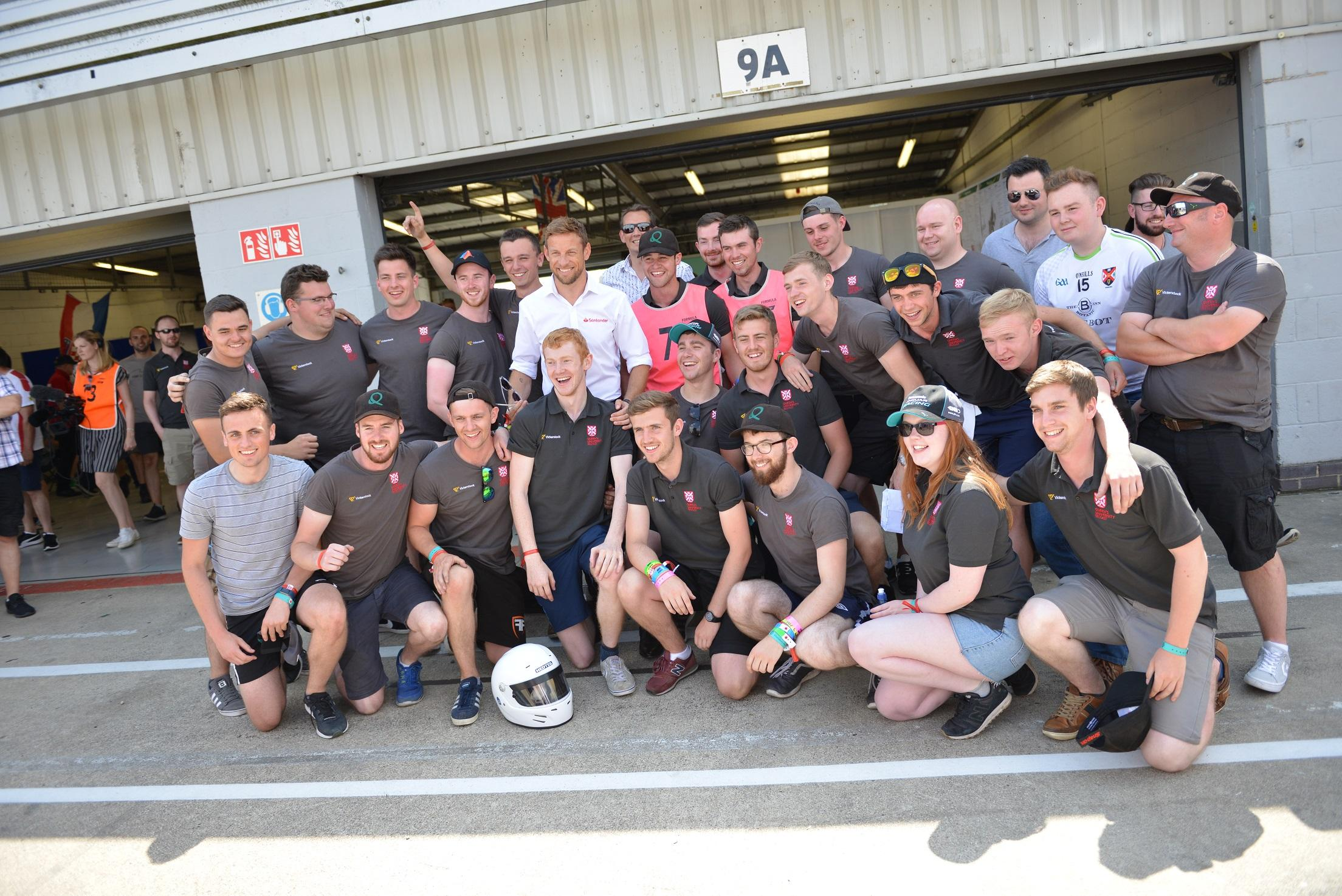 Button was at Silverstone for the Formula Student World Finals