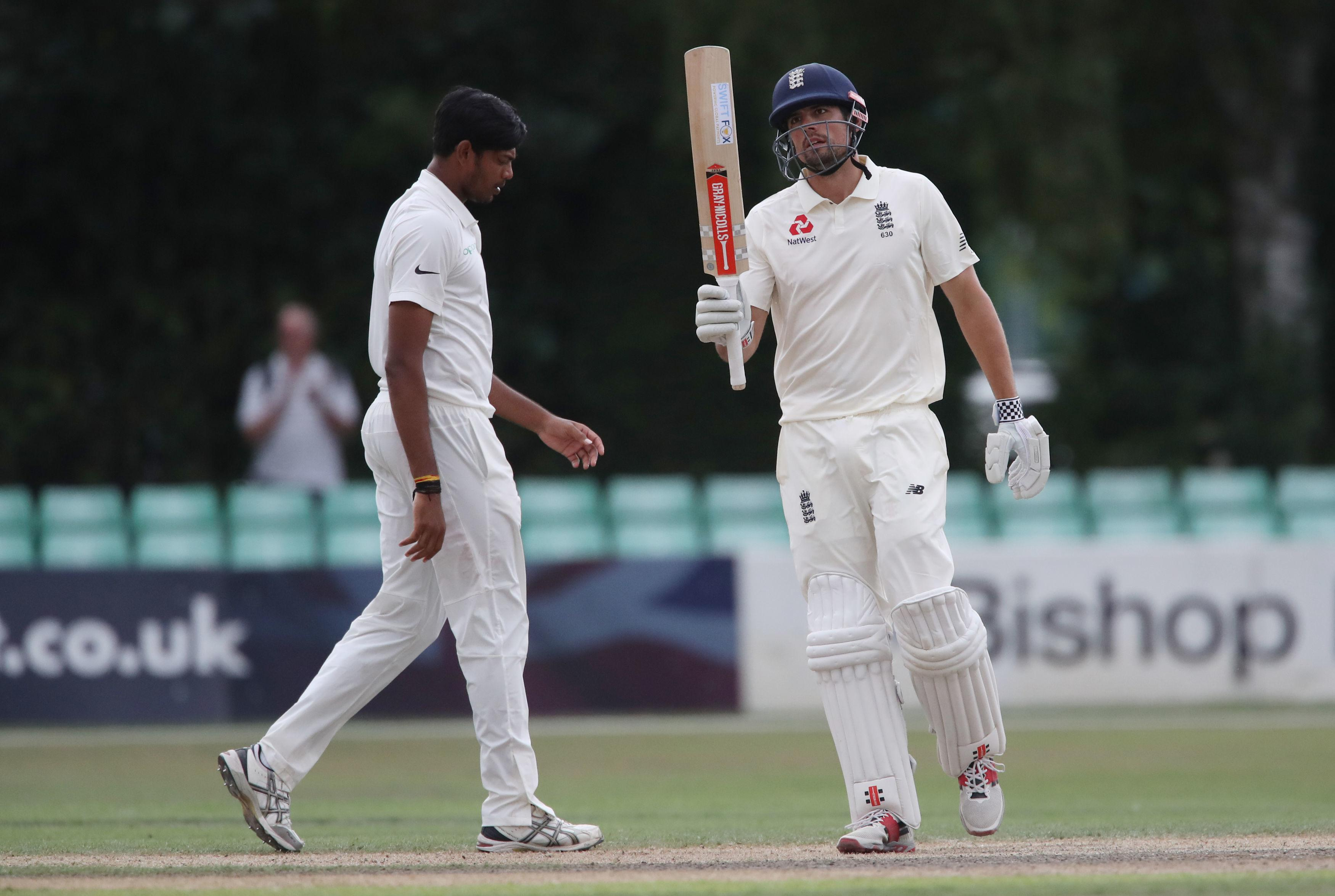 Alastair Cook warmed up for the First Test with India with a century for the Lions