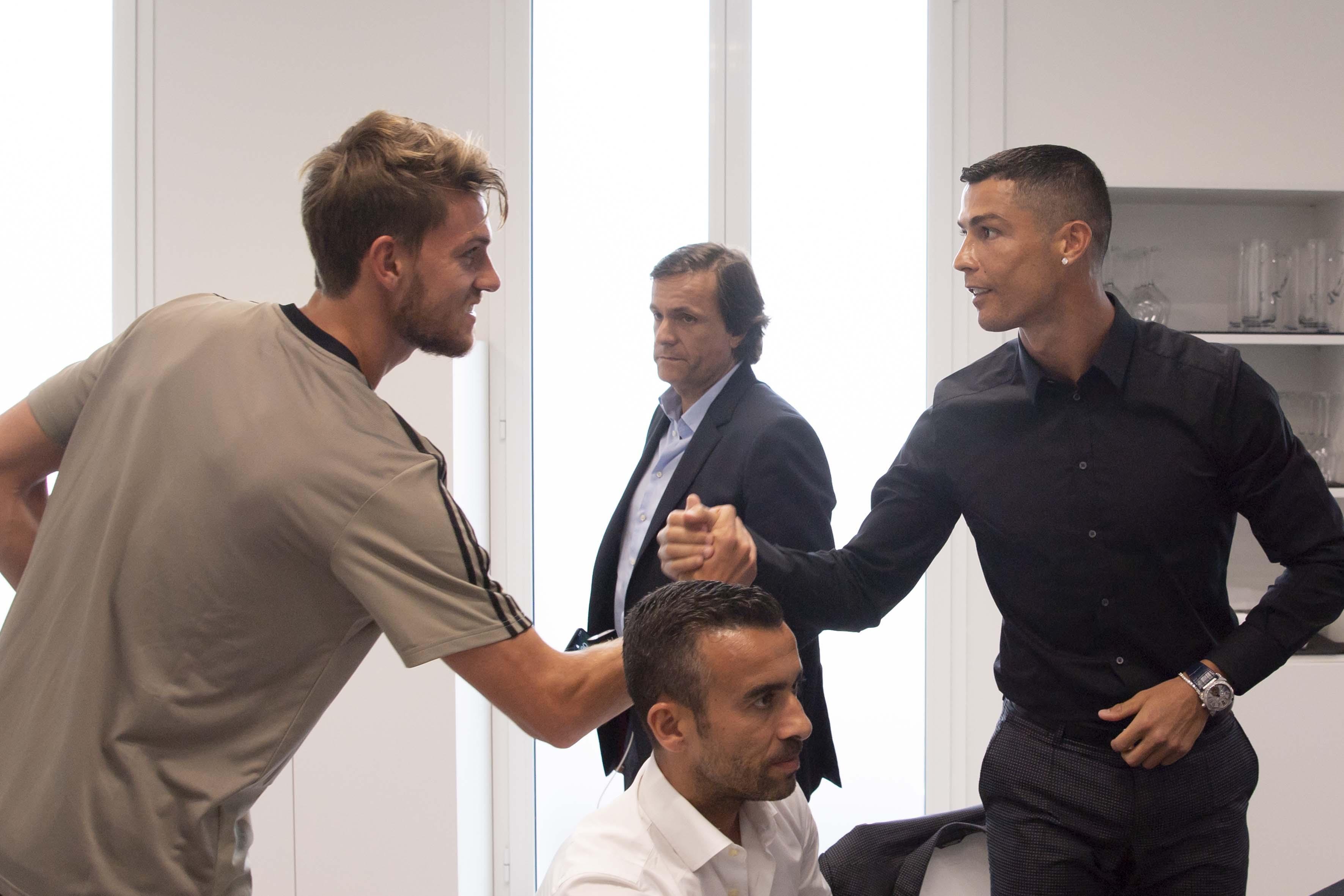 Cristiano Ronaldo has been meeting his new team-mates