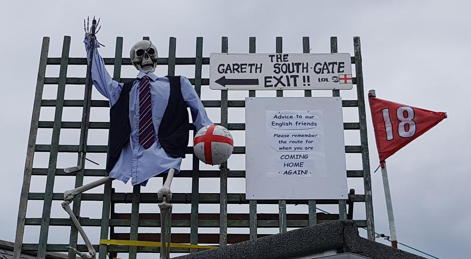 Tartan Army fan Kenneth Whyte said he got fed up with the World Cup hype over the Three Lions and responded with an effigy he claims was just a joke