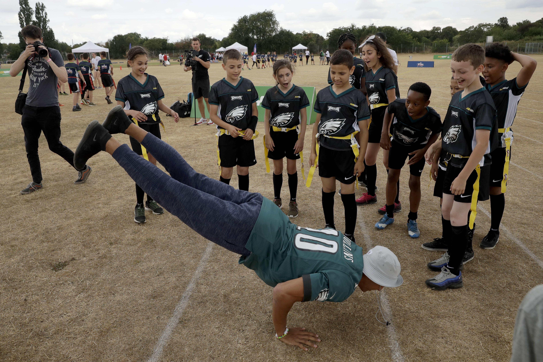 Philadelphia Eagles ace Mack Hollins impressed the school kids