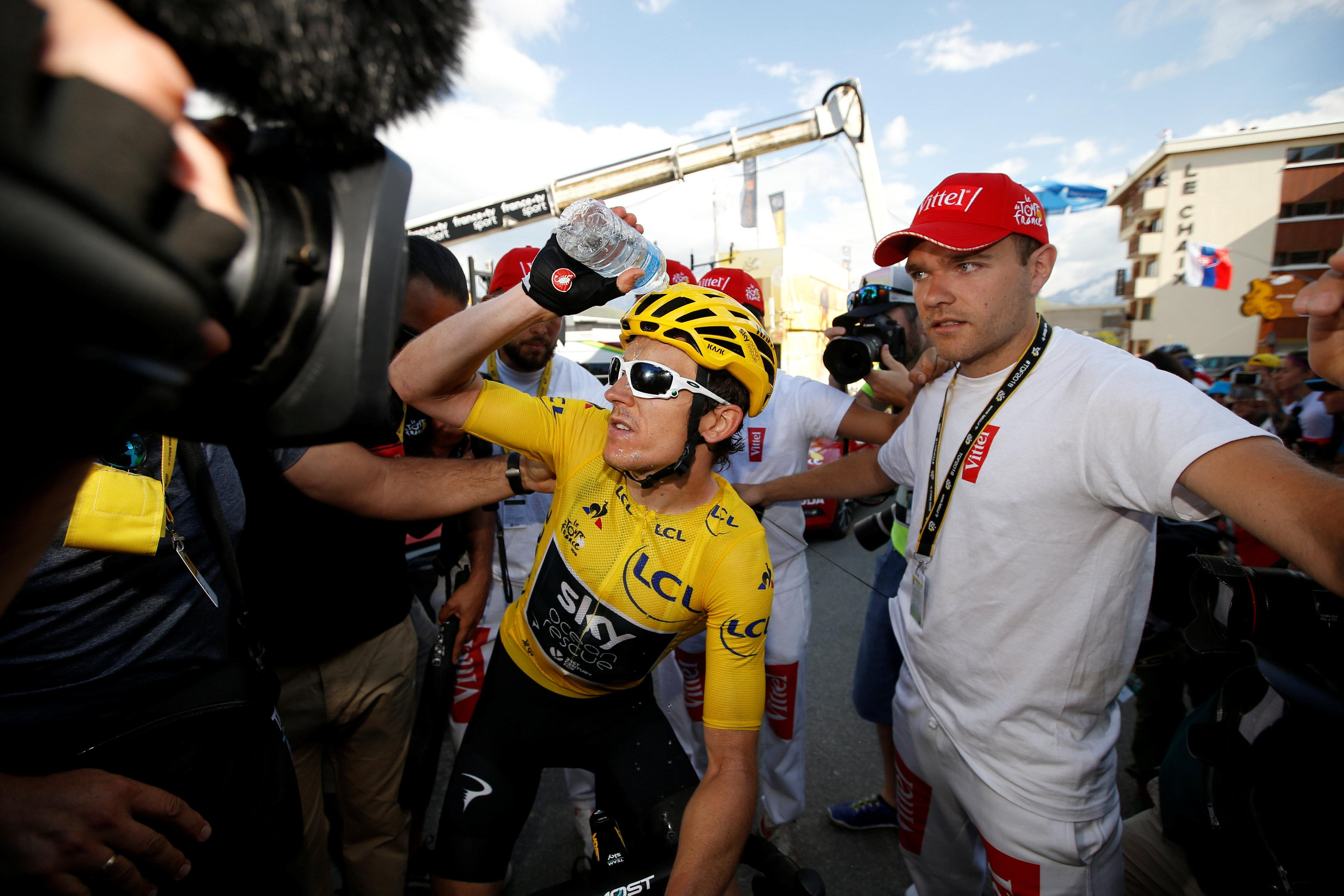 Geraint Thomas clung onto the Yellow Jersey after today's stage win