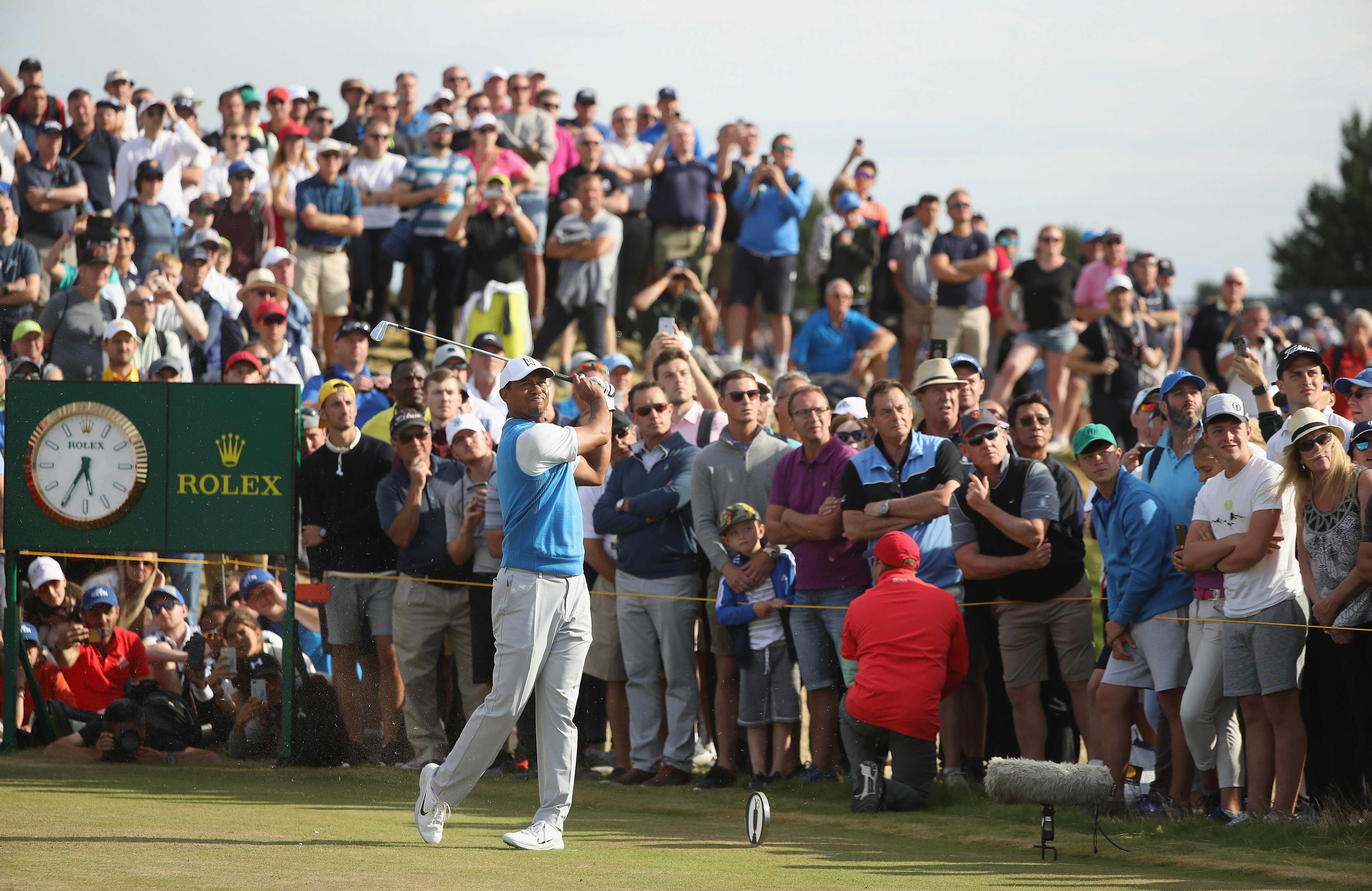 Tiger Woods is a living legend and still draws the most attention when he plays