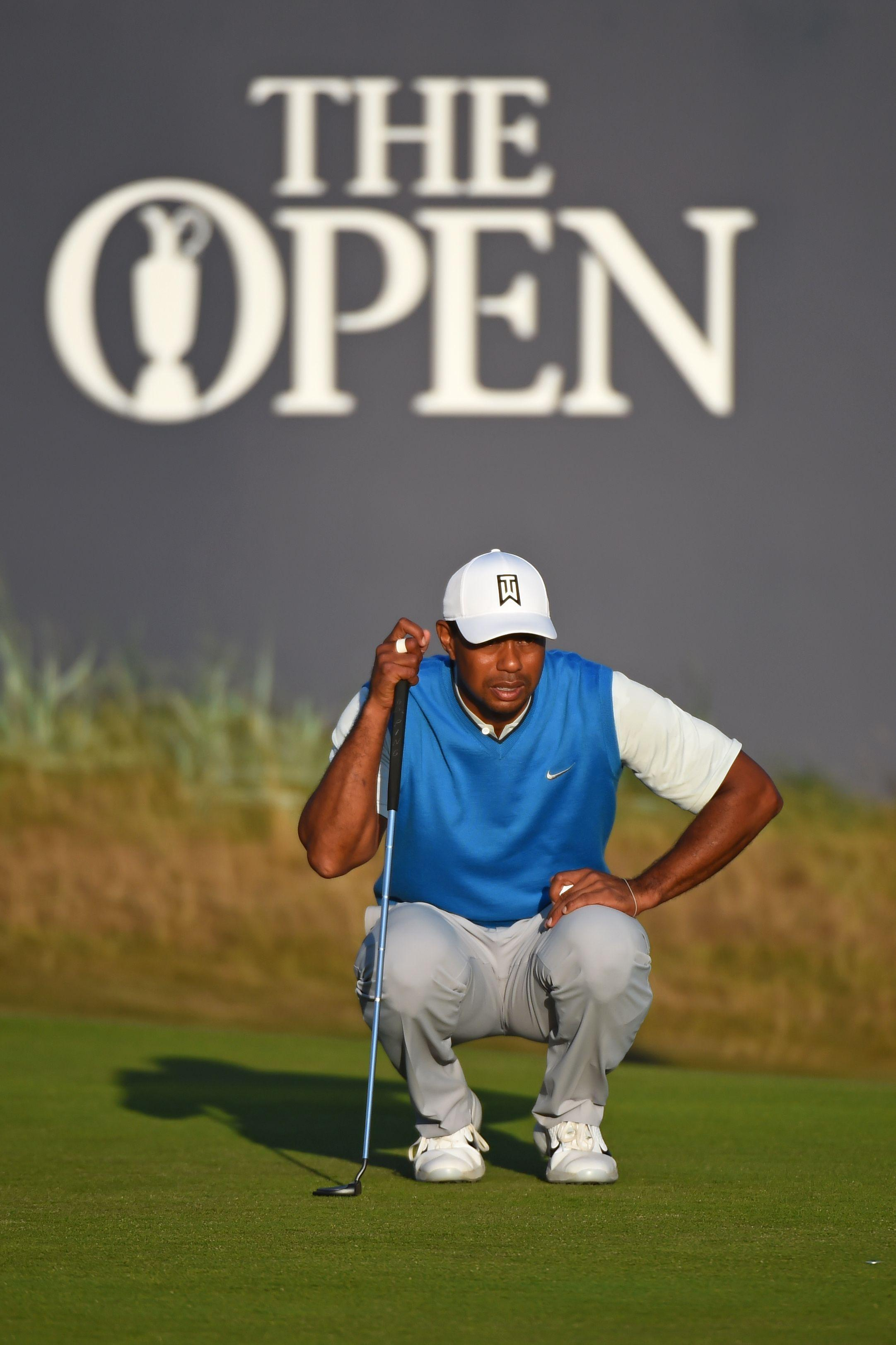 Woods was level par after the first round - five shots off the lead