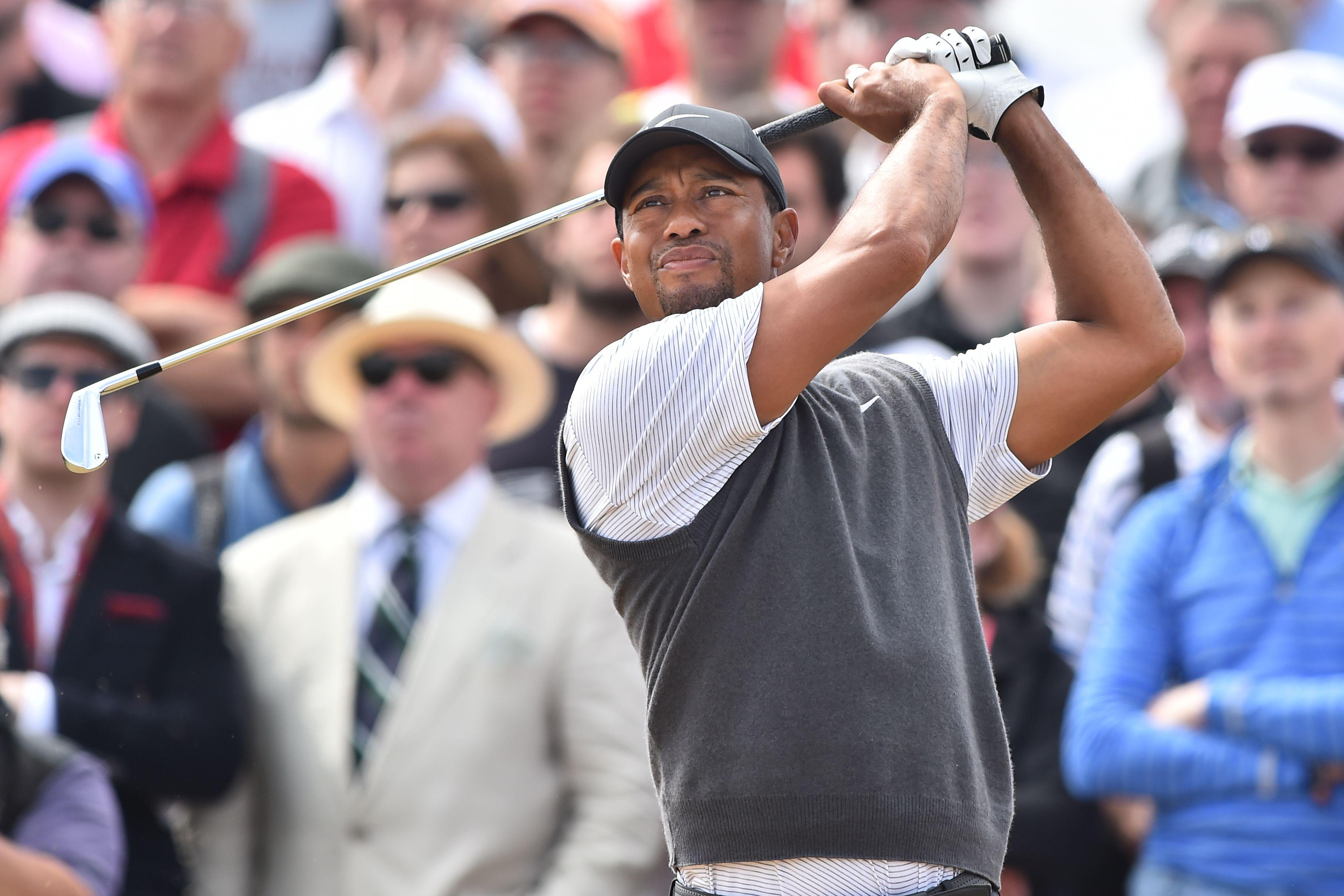 The 14-time Major champion charged up the leaderboard at the Open