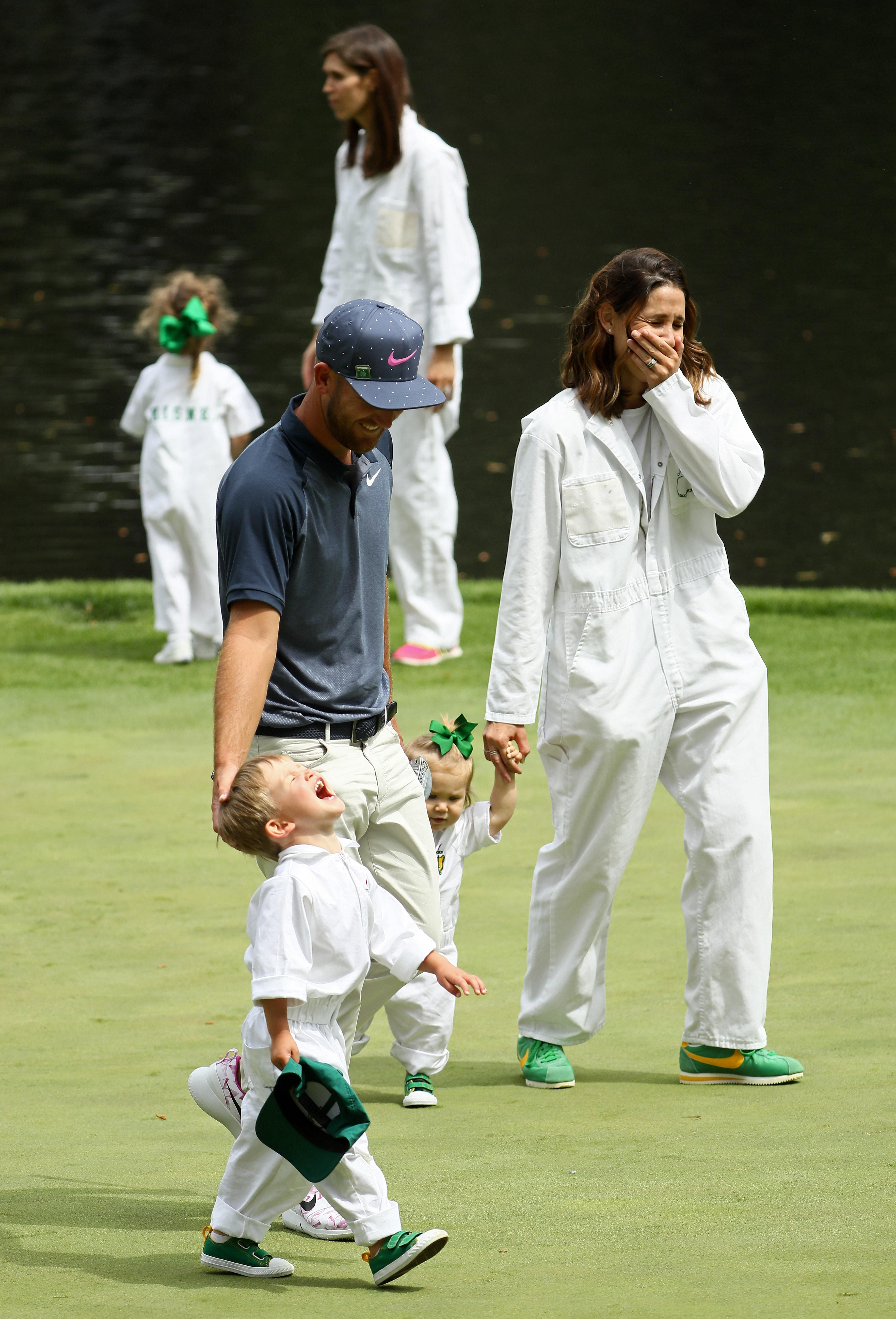 Both children Wyatt and Collins were at the Par-3 competition in August this year