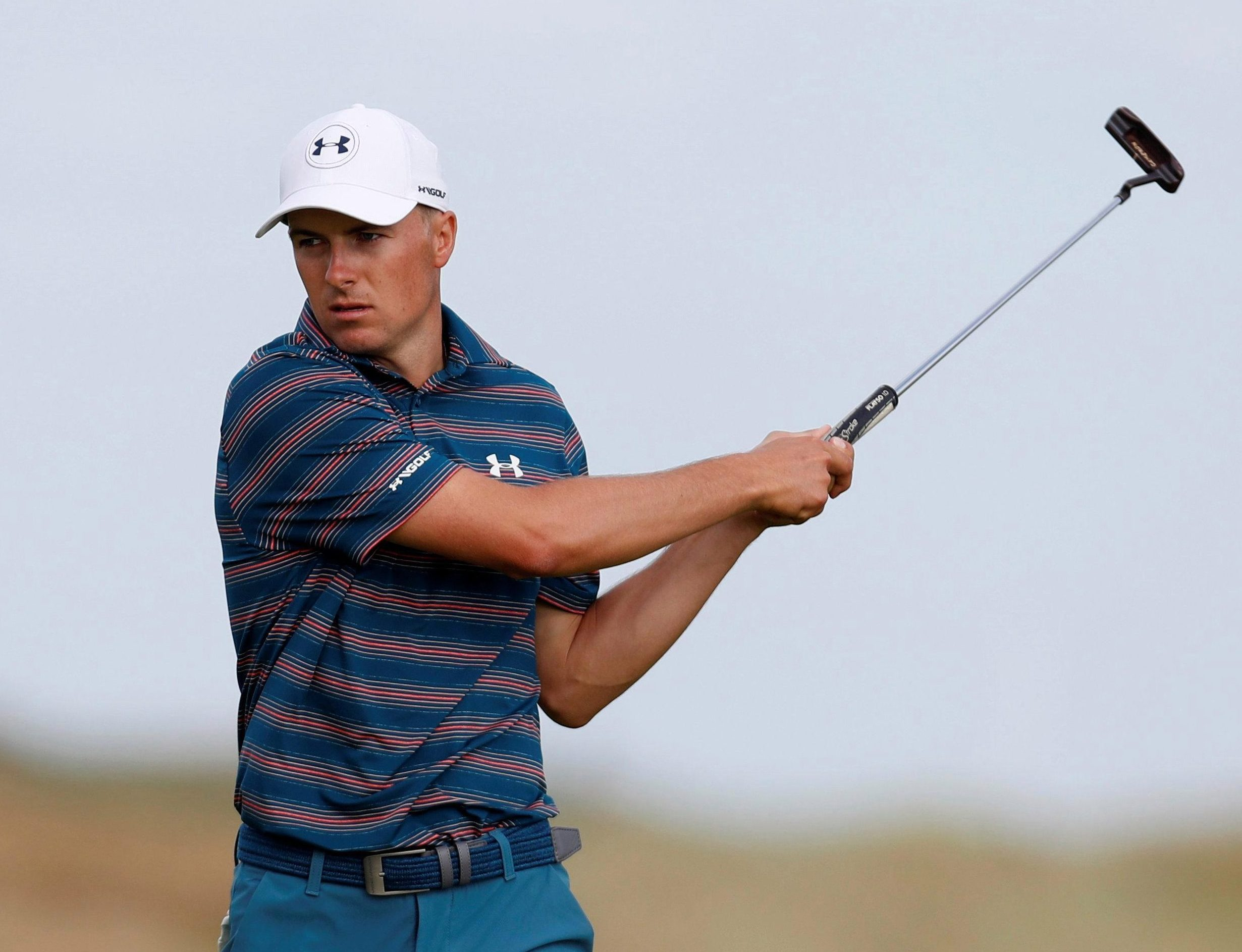 Jordan Spieth had a frustrating final round after looking a prime contender