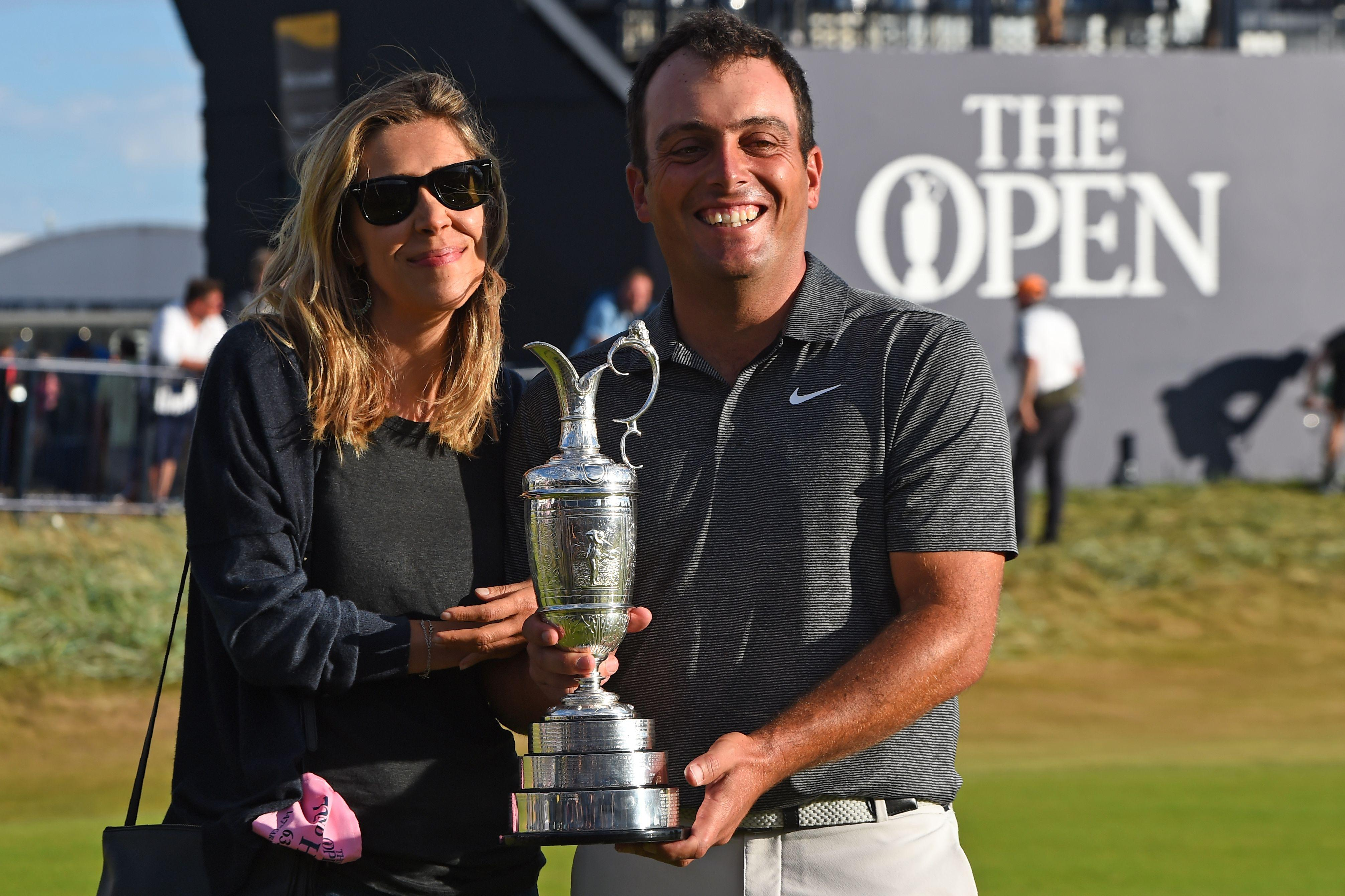 Wife Valentina was at Carnoustie to see her husband create history