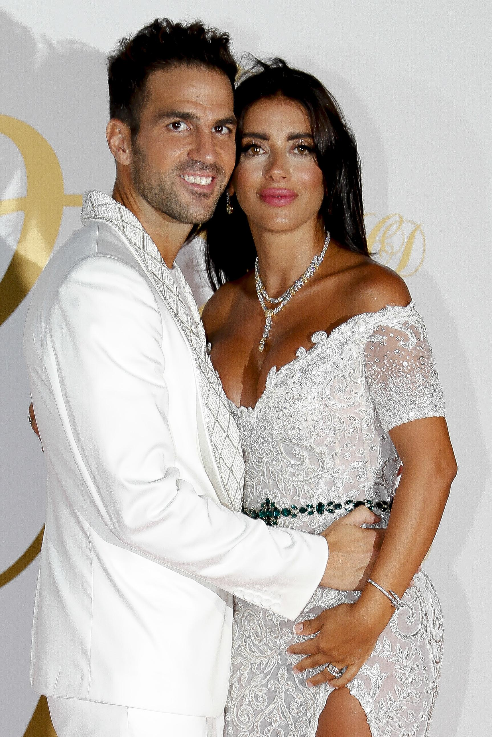 Cesc Fabregas and Daniella Semaan had to put their wedding party plans on hold due to his team-mates' football commitments