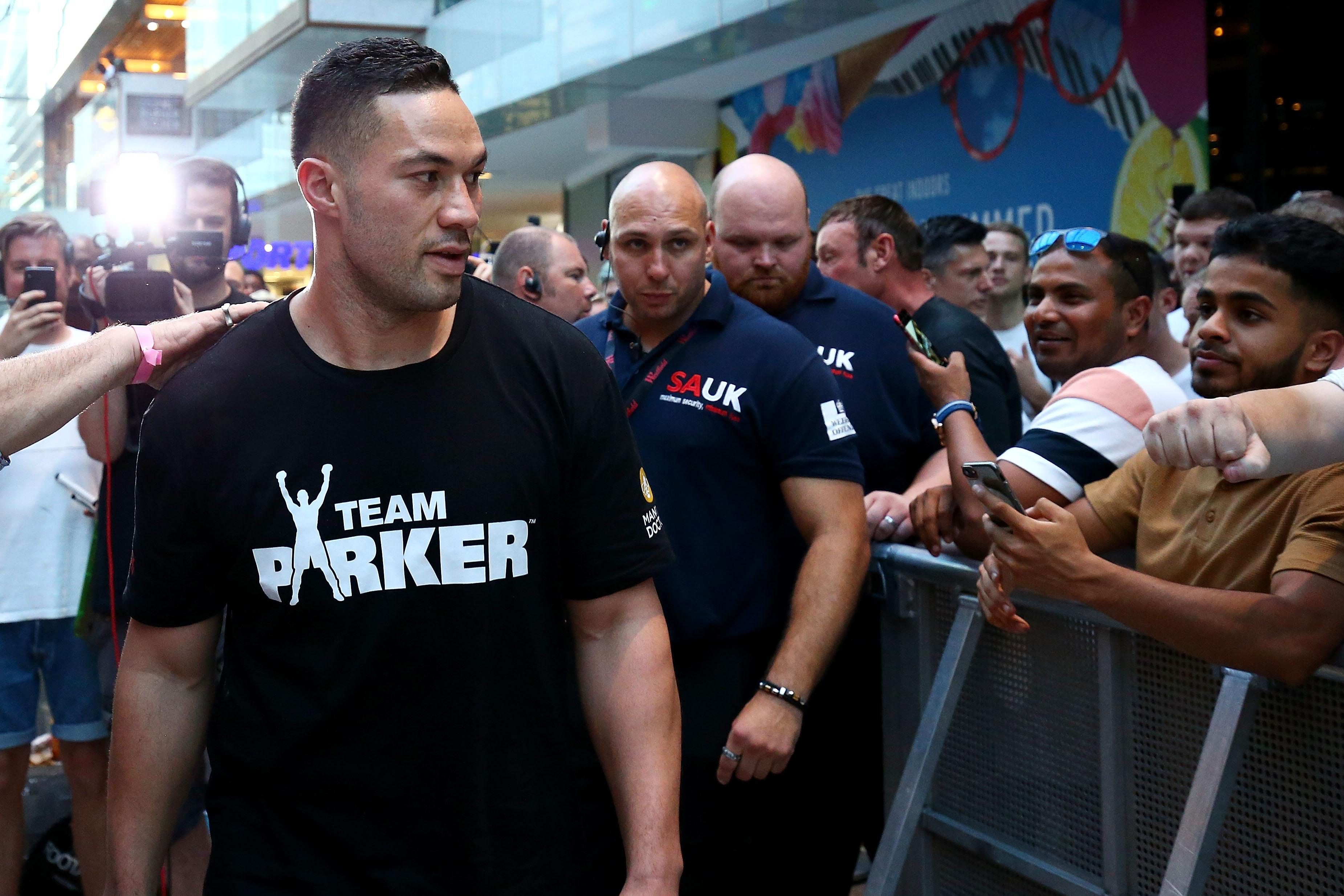 Joseph Parker wants to regain the world title Anthony Joshua took off him