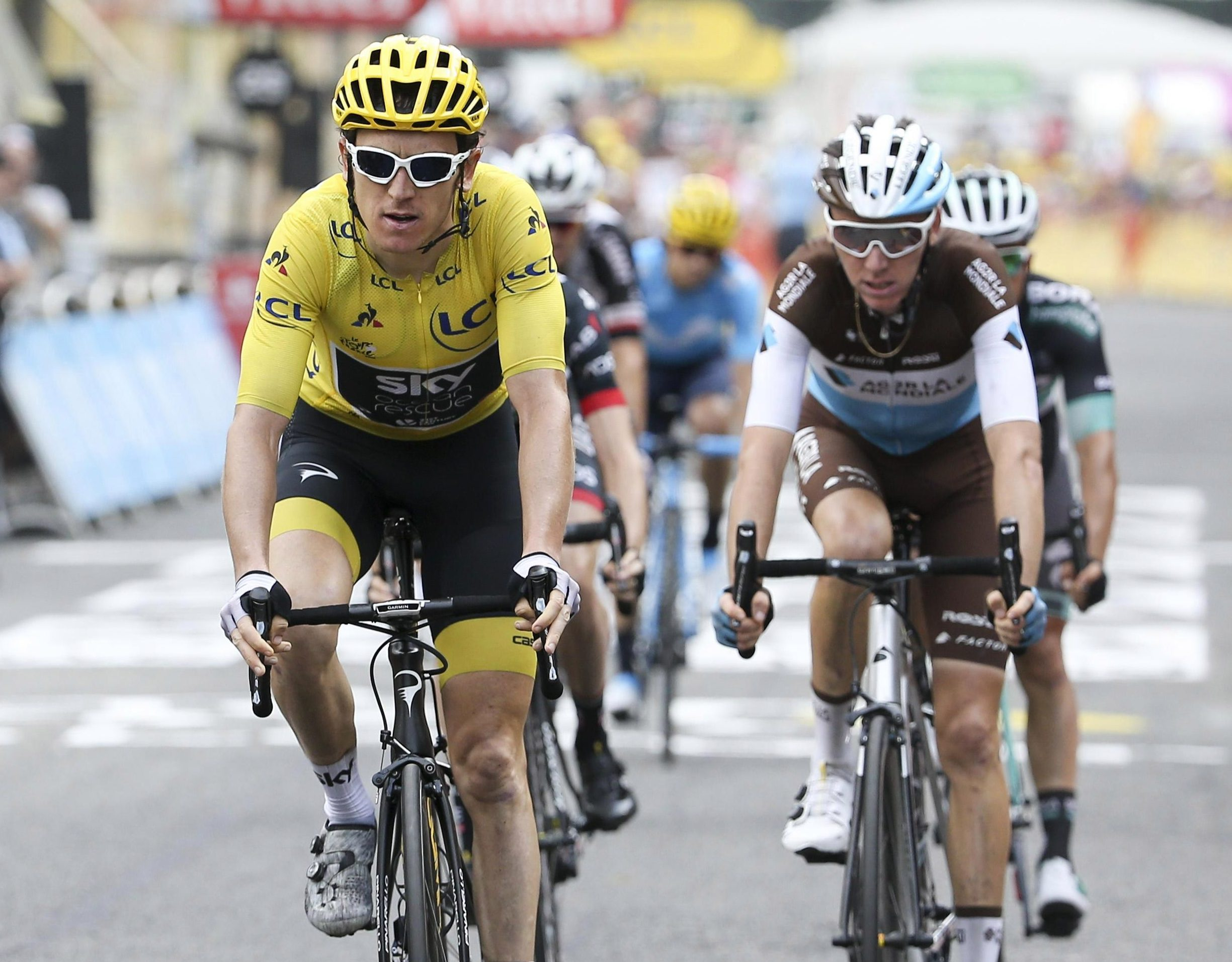 Geraint Thomas came second on stage 19, boosting his overall Tour de France lead