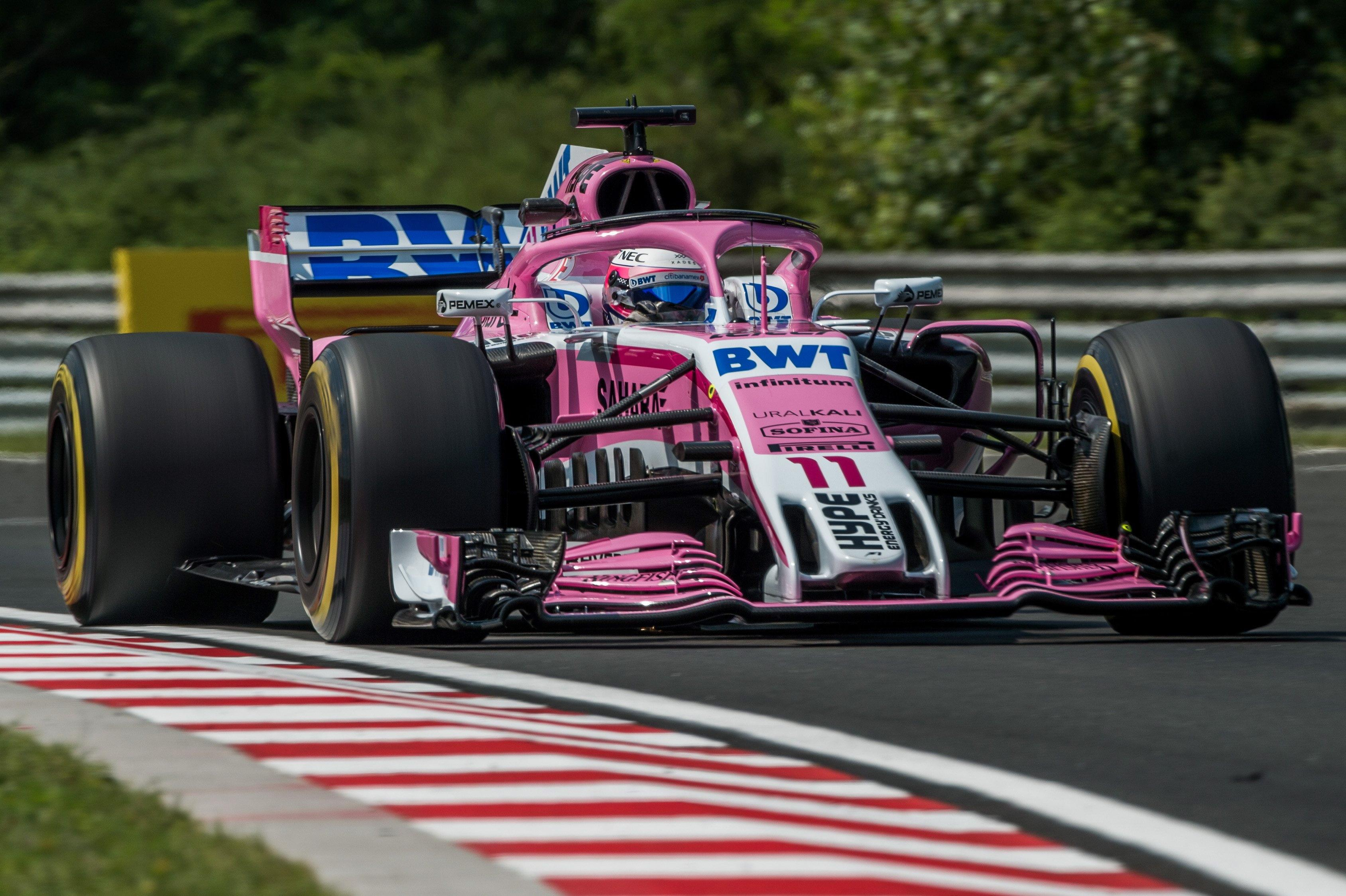 Force India's Sergio Perez in action at the Hungarian Grand Prix