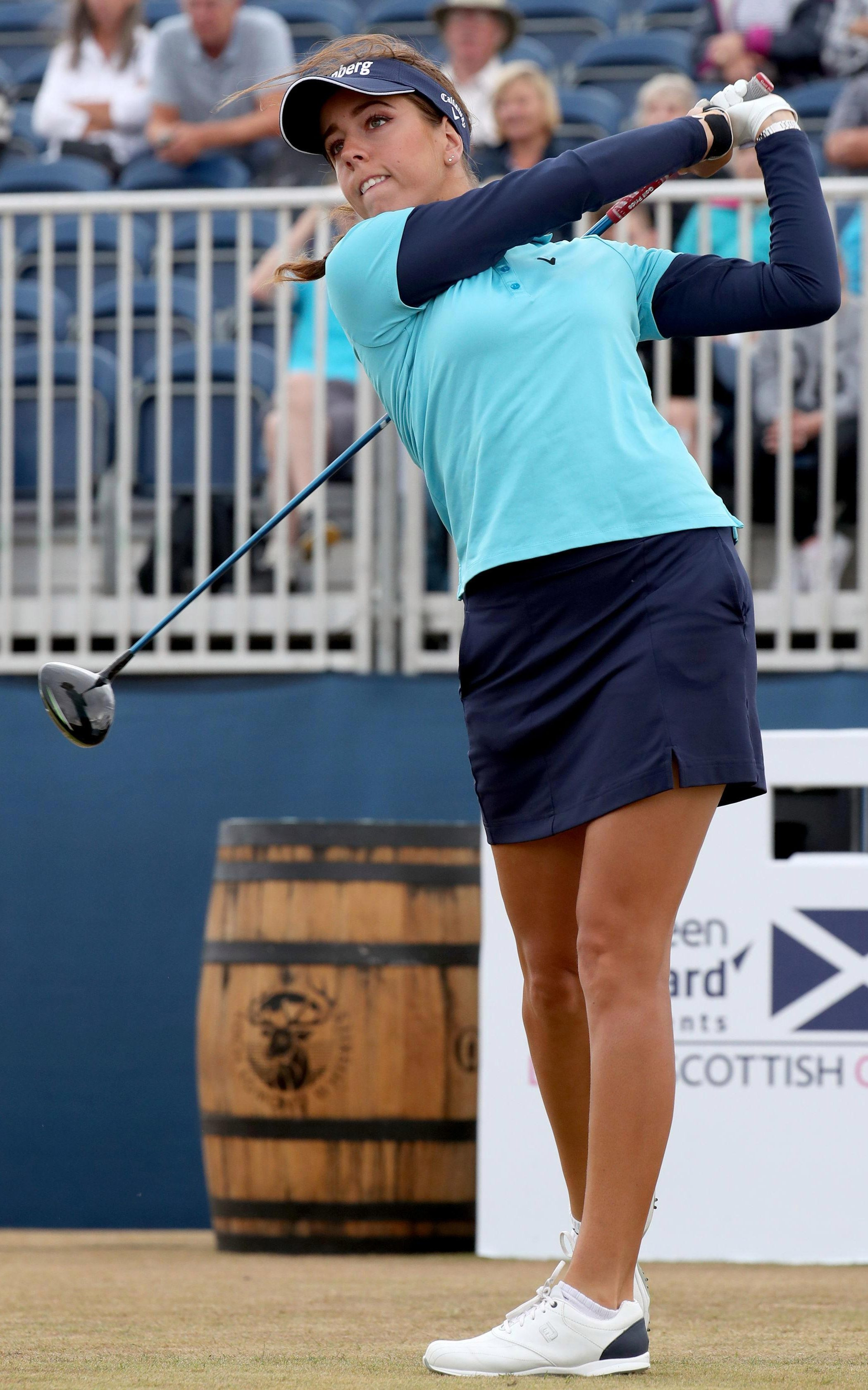 Davies will play alongside playing with British Open champion Georgia Hall