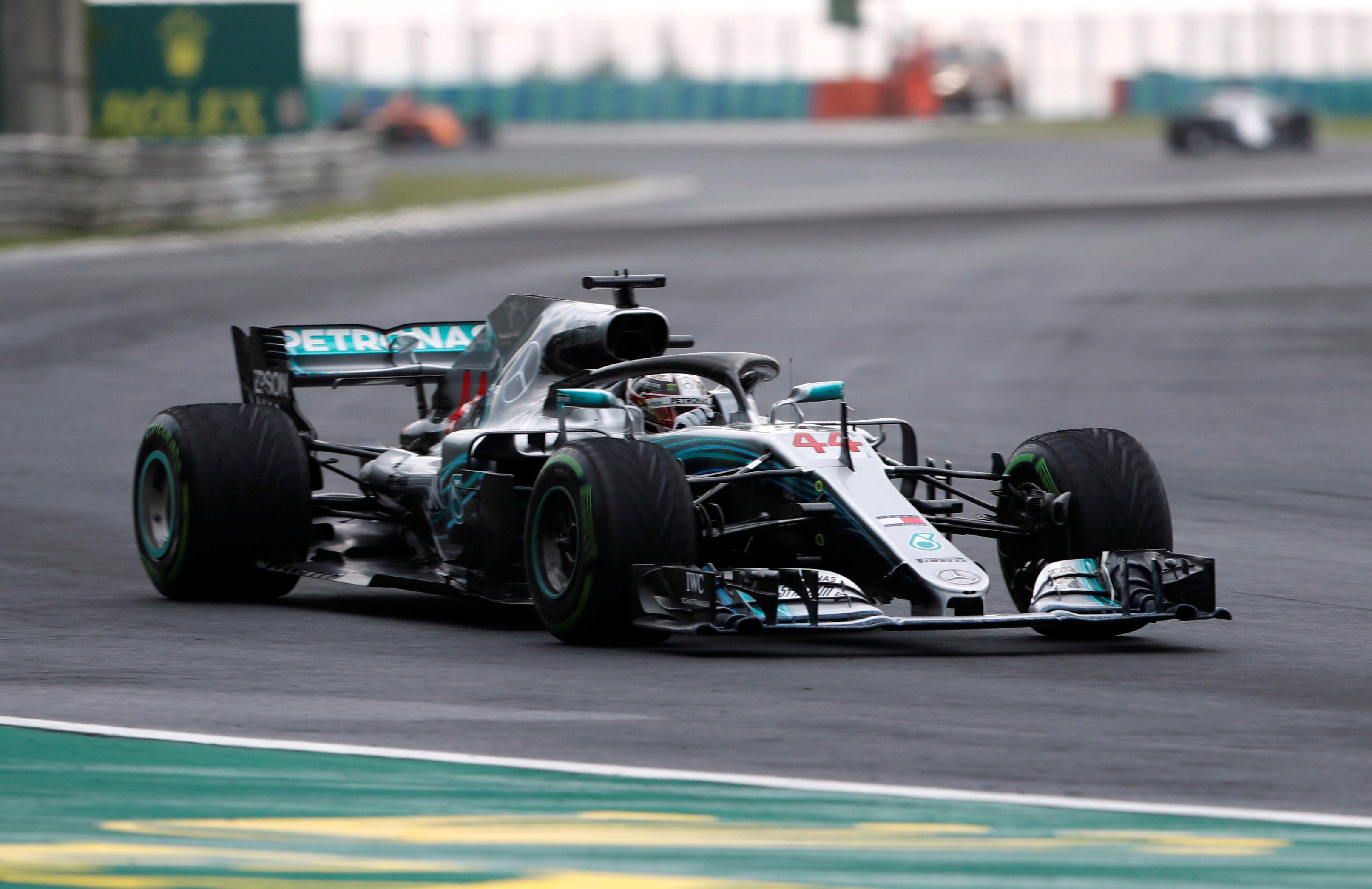 Hamilton left it late to claim pole, his fifth of the season