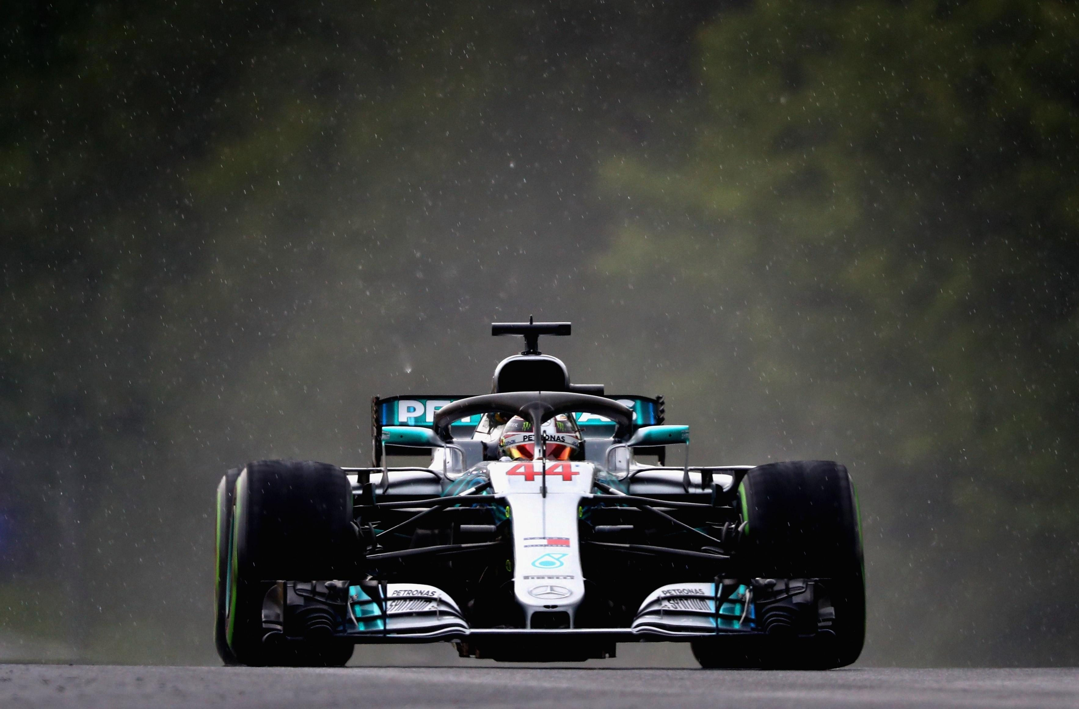 Hamilton takes pole in Mercedes one-two in Hungary