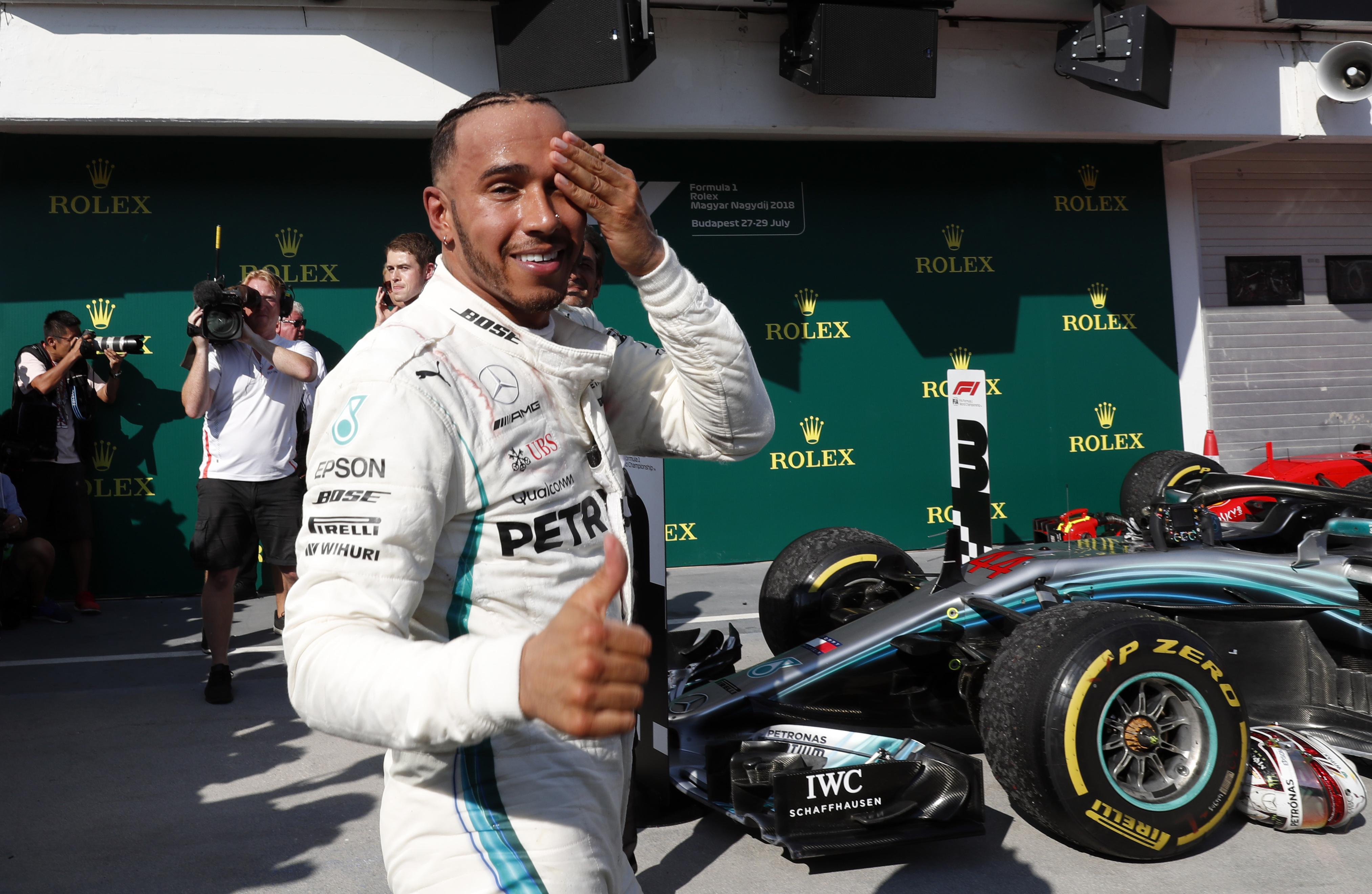 The Mercedes ace will be hoping to continue building his lead when he returns