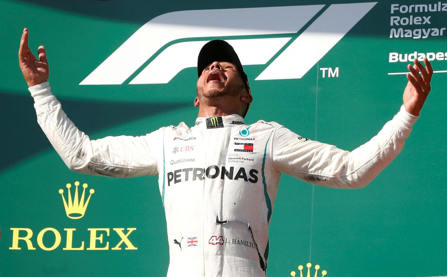 Lewis Hamilton is going to party hard after winning the Hungarian Grand Prix