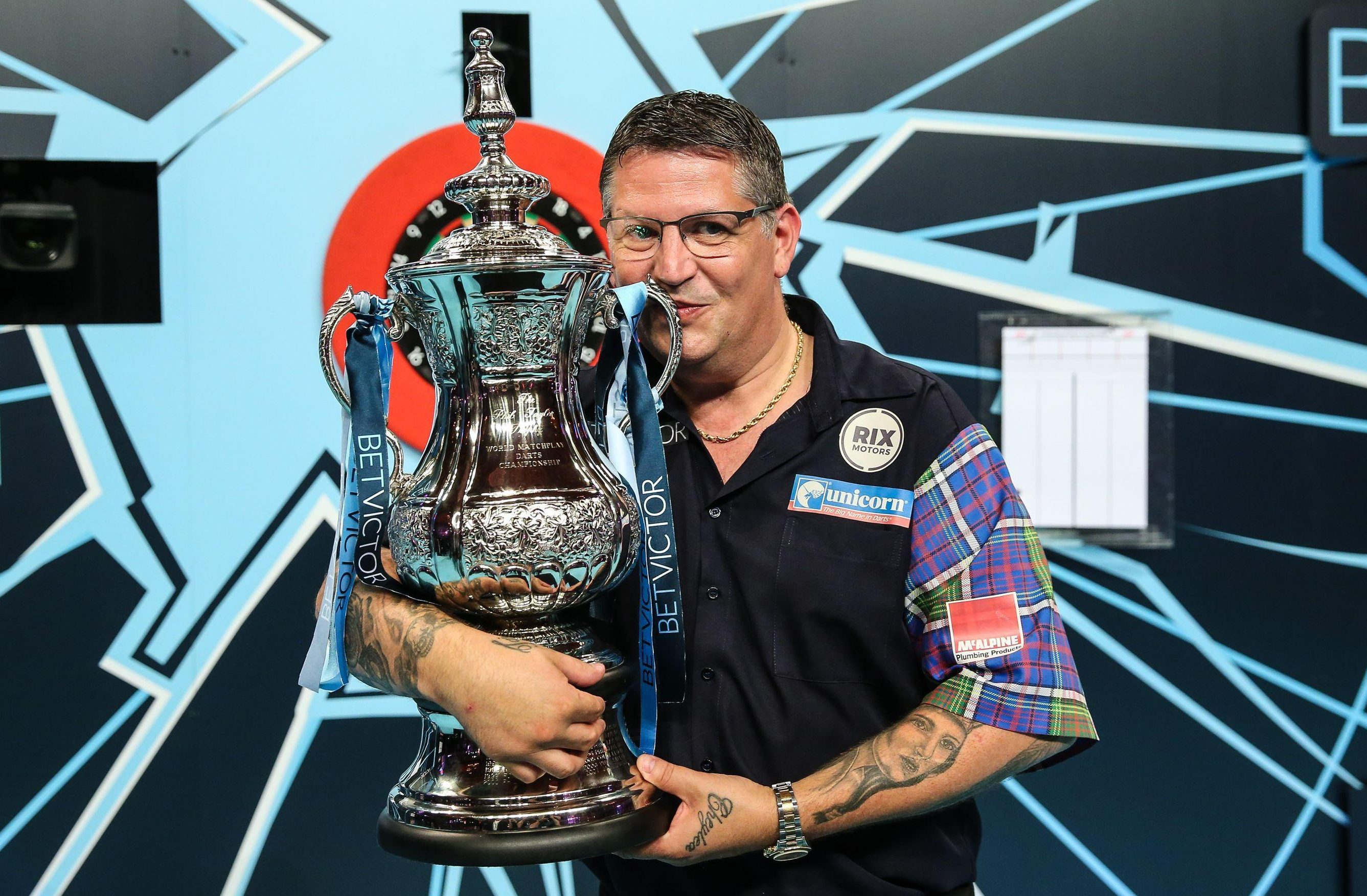 Anderson becomes the third man after Phil Taylor and Michael van Gerwen to win darts' Triple Crown