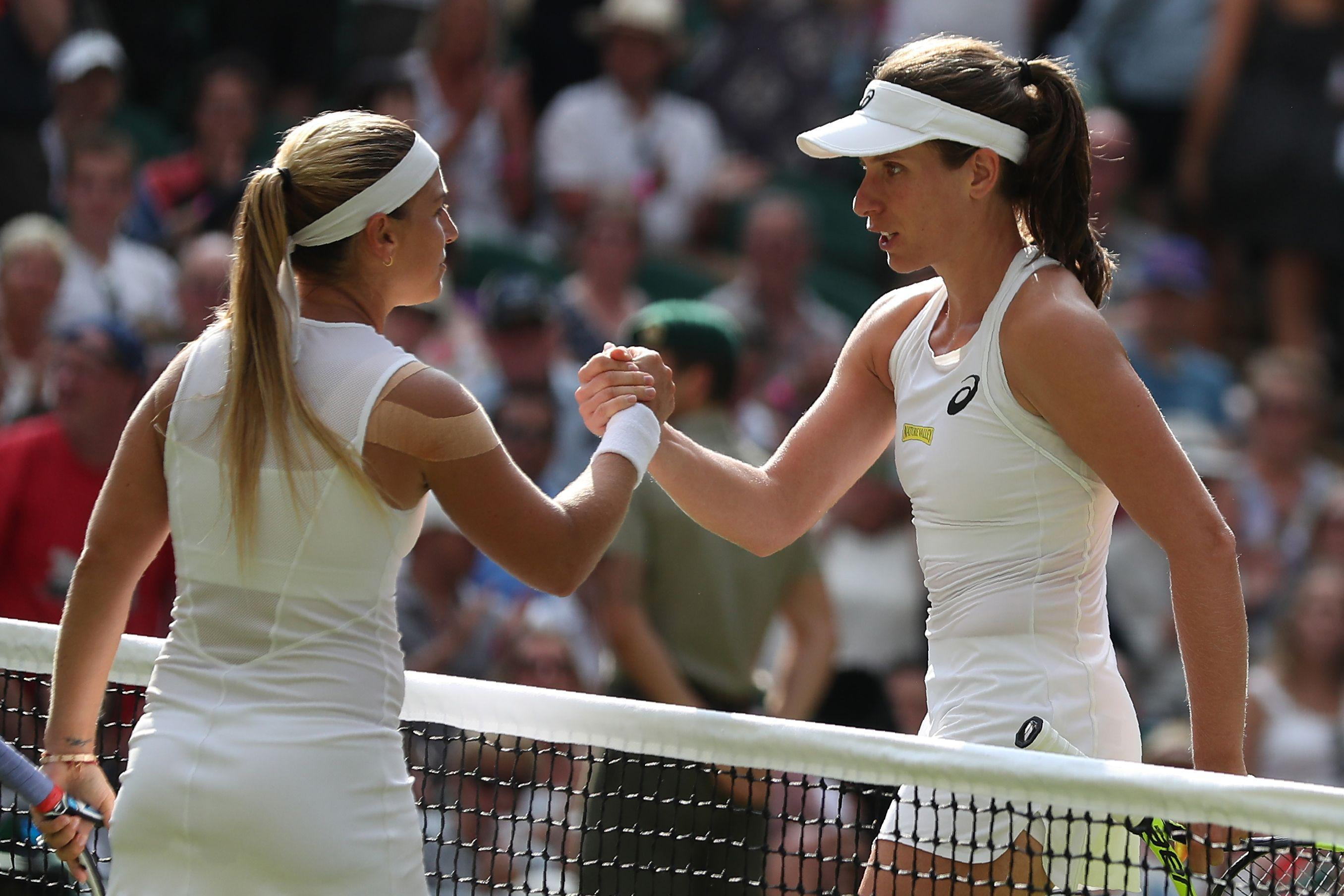 Cibulkova was unseeded after Serene Williams was controversially boosted up the list
